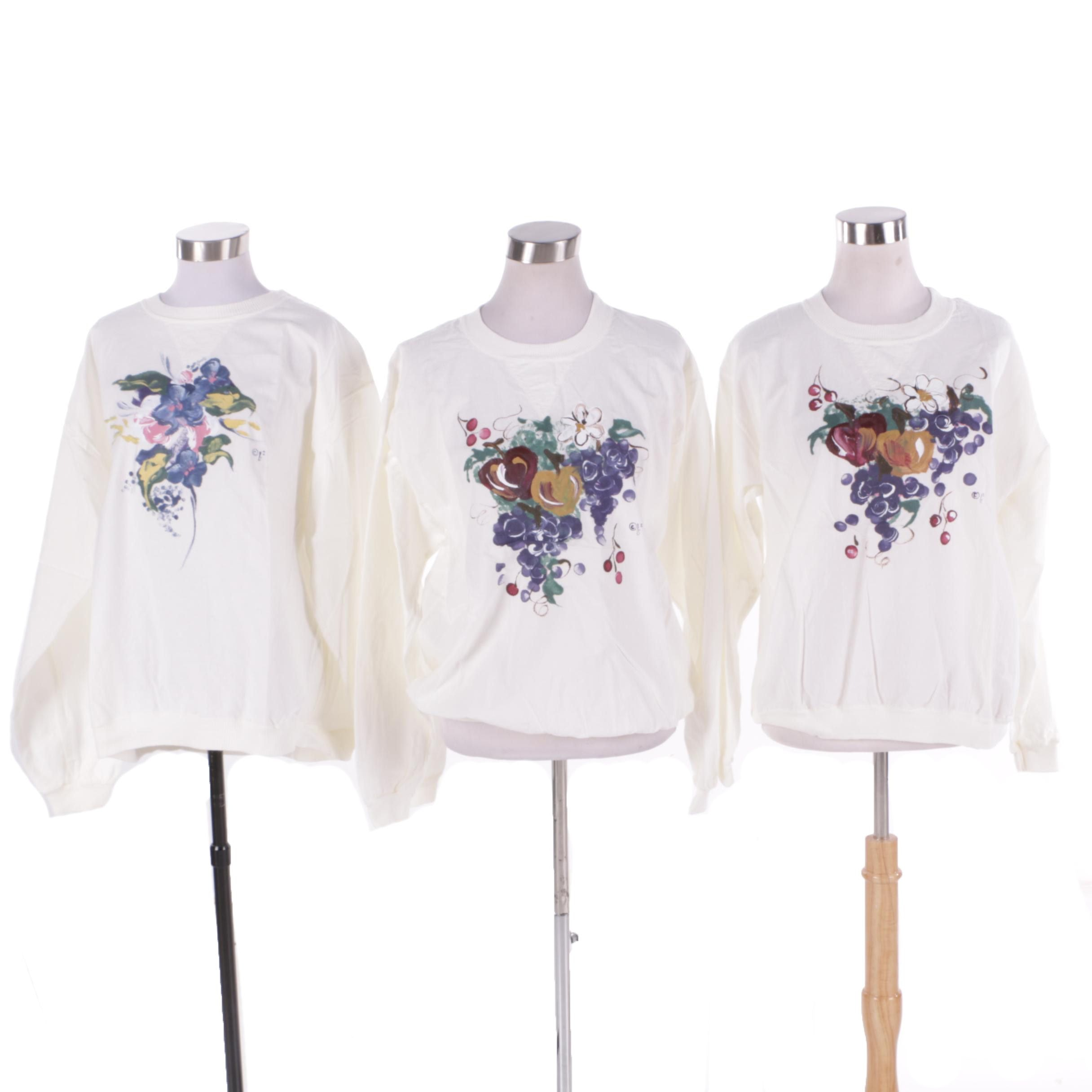 Women's Hand-Painted Long Sleeve T-Shirts