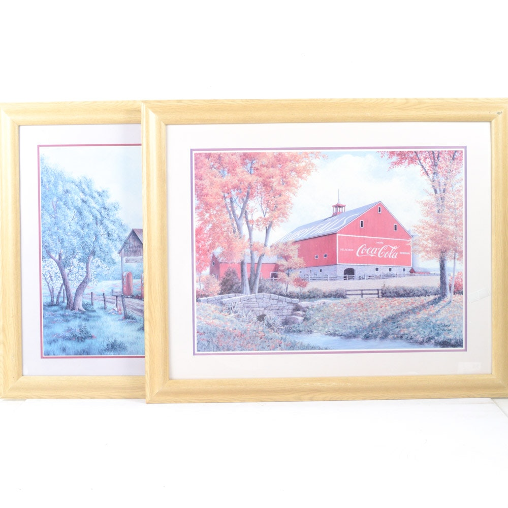 Coca-Cola Themed Offset Lithographs