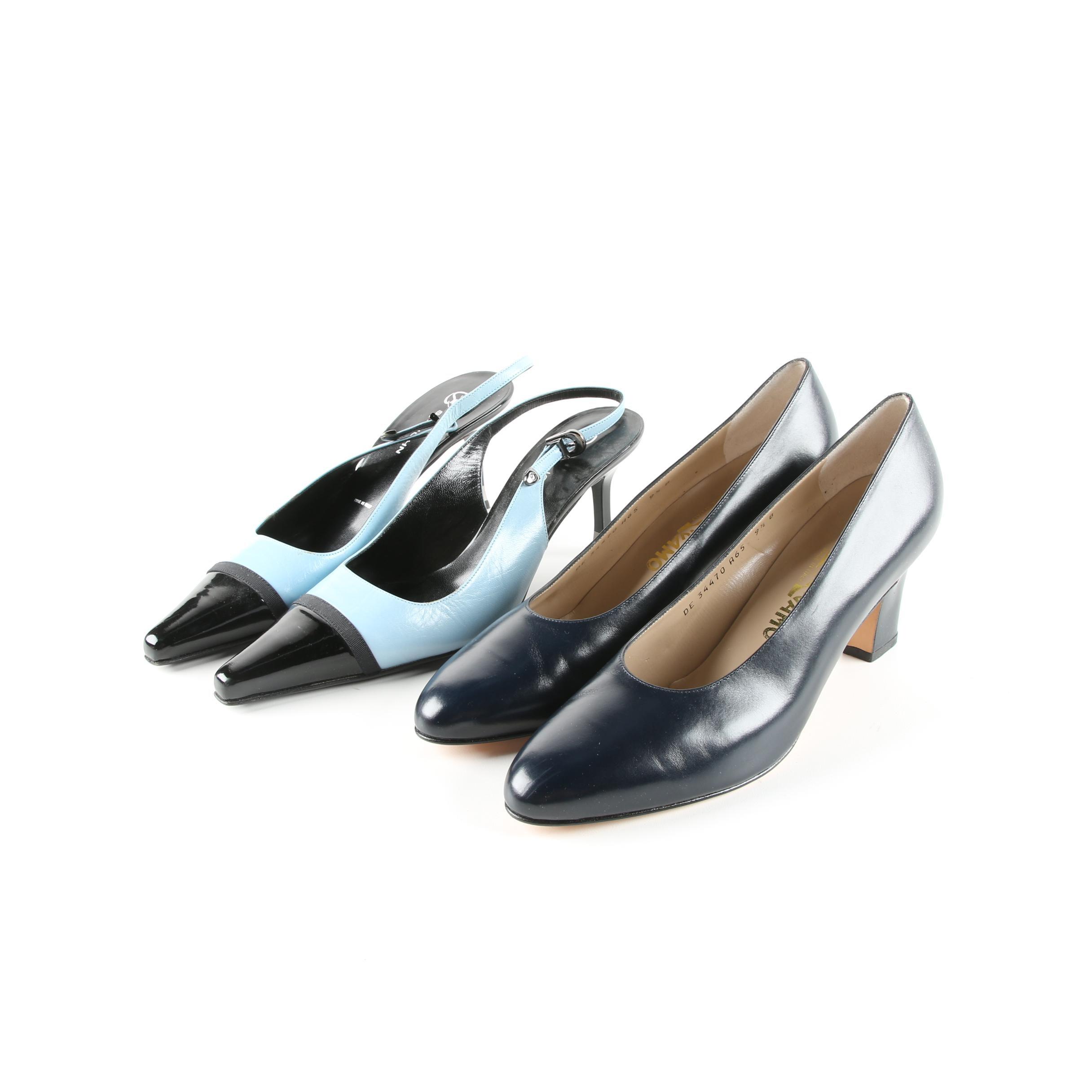 Salvatore Ferragamo Pumps and St. John Slingback Heels