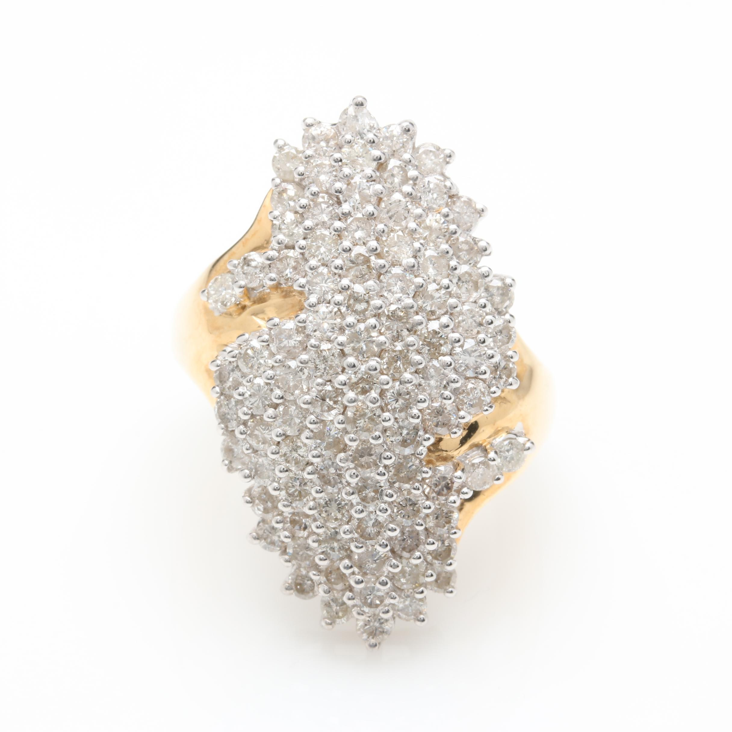 14K Yellow Gold 2.67 CTW Diamond Ring