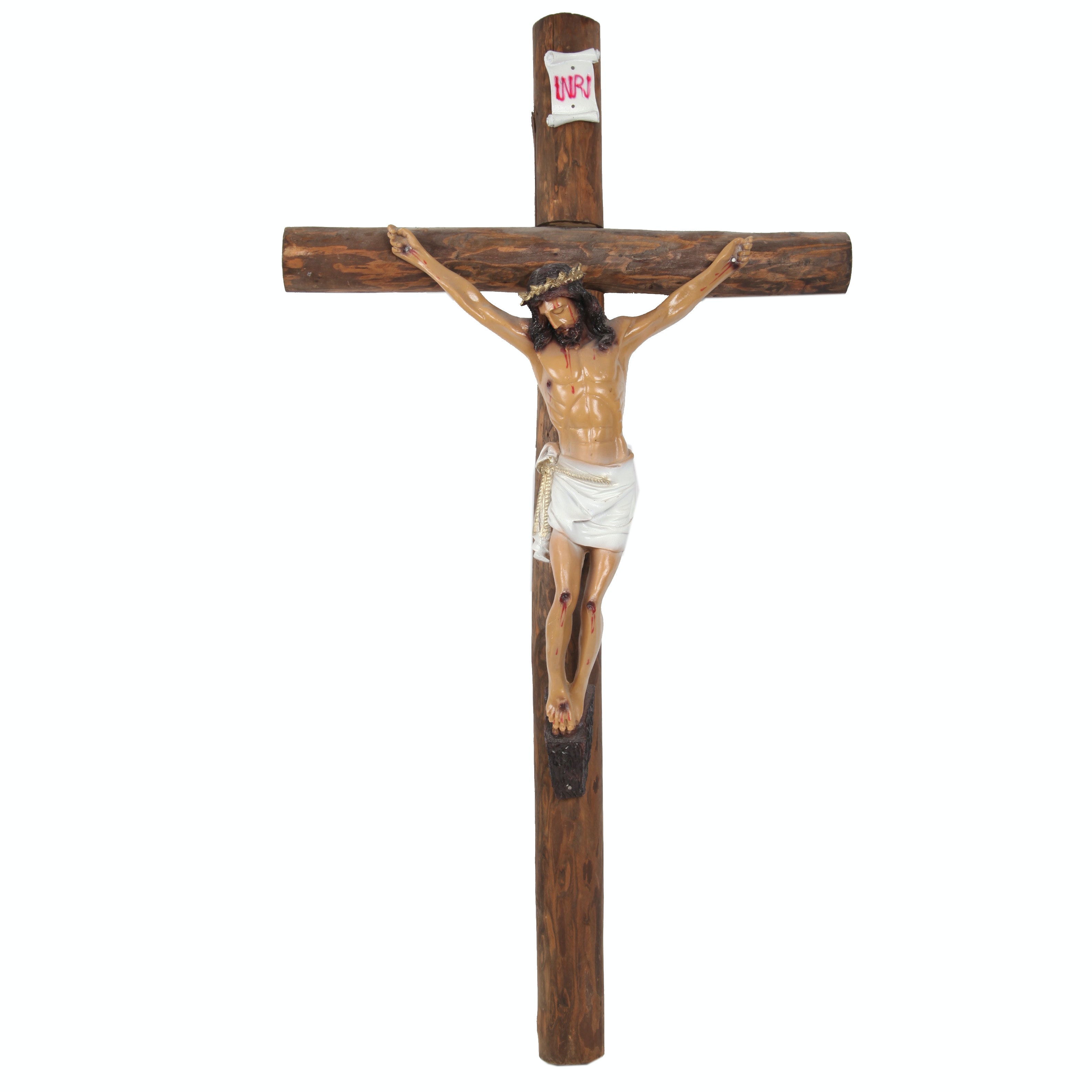 Wood and Resin Wall Crucifix