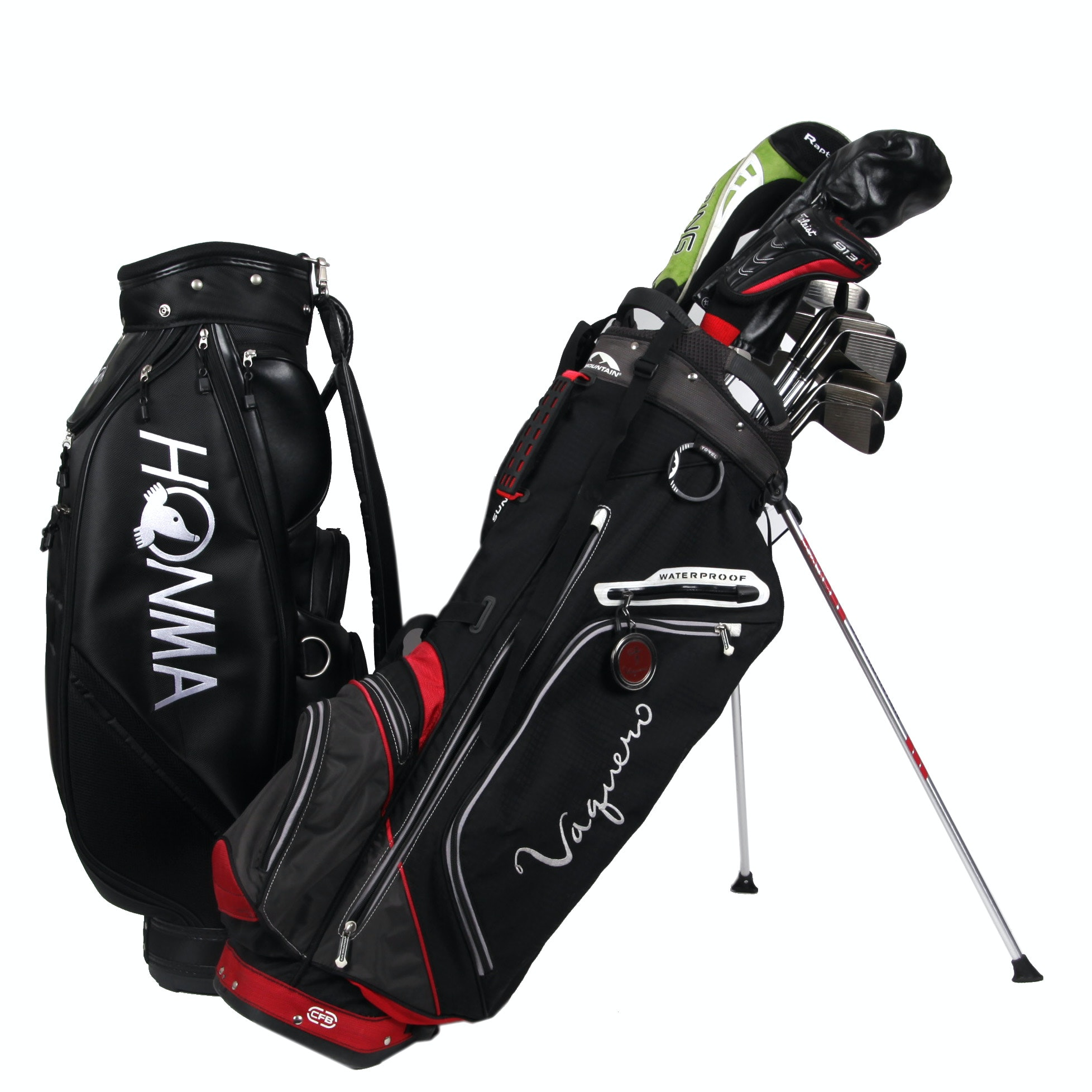 Honma and Vaquero Golf Bags With Ping, CB3 and Idea Clubs
