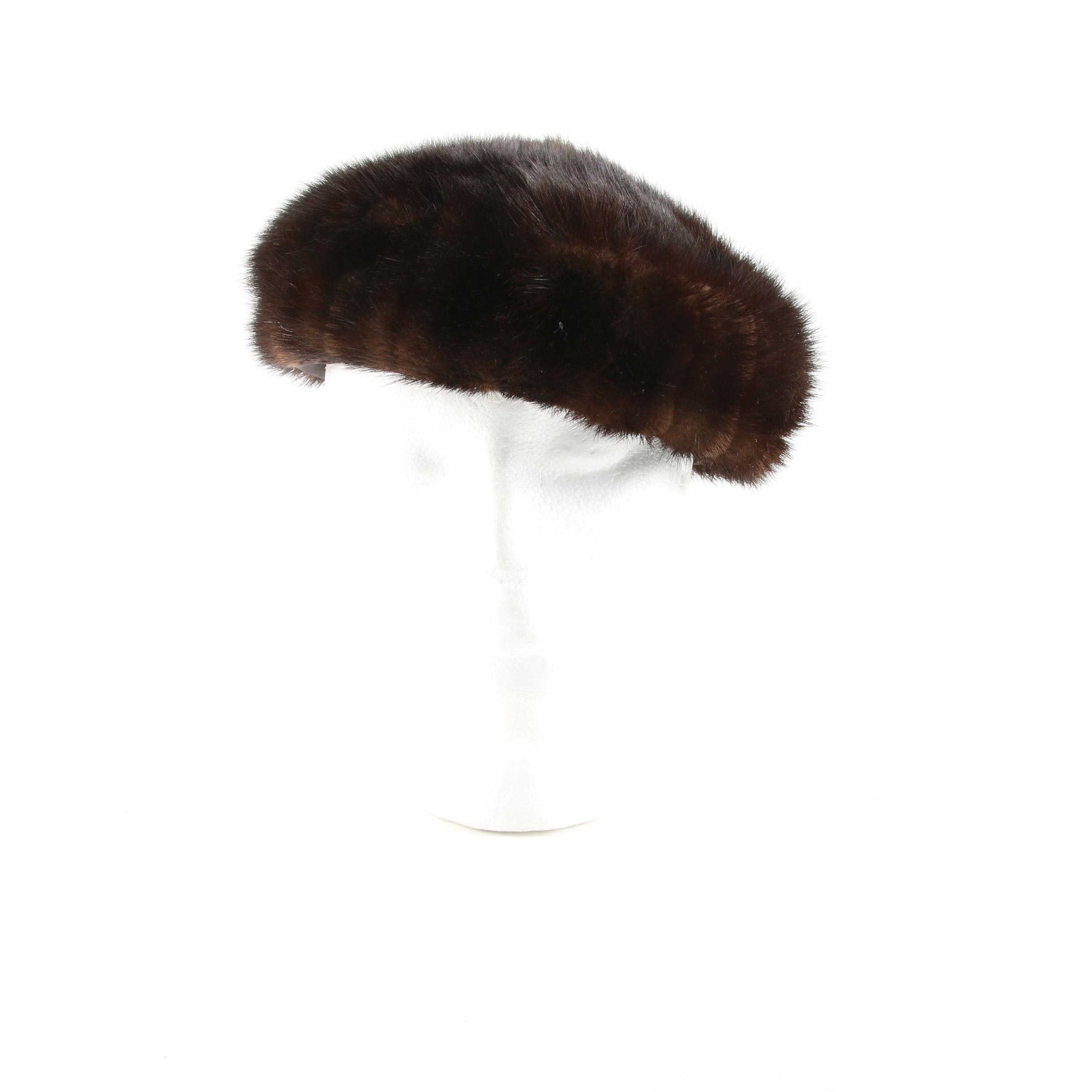 Women's Vintage Marshall Field & Company Mink Fur Hat