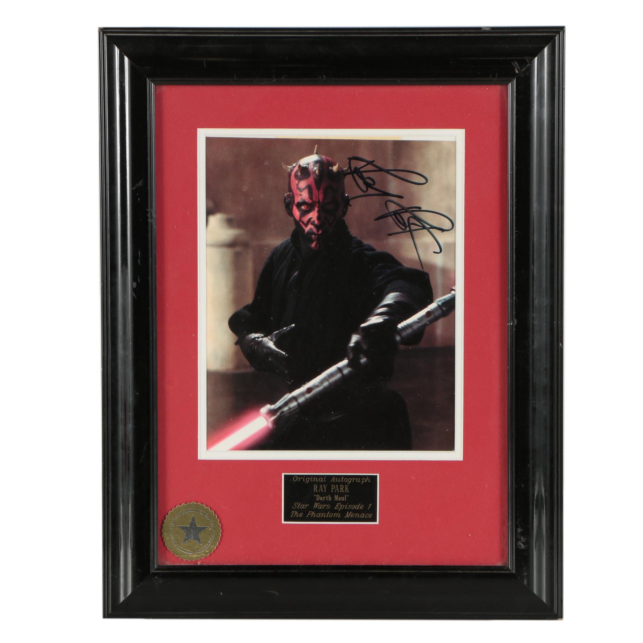 Ray Park Autographed Darth Maul Framed Display
