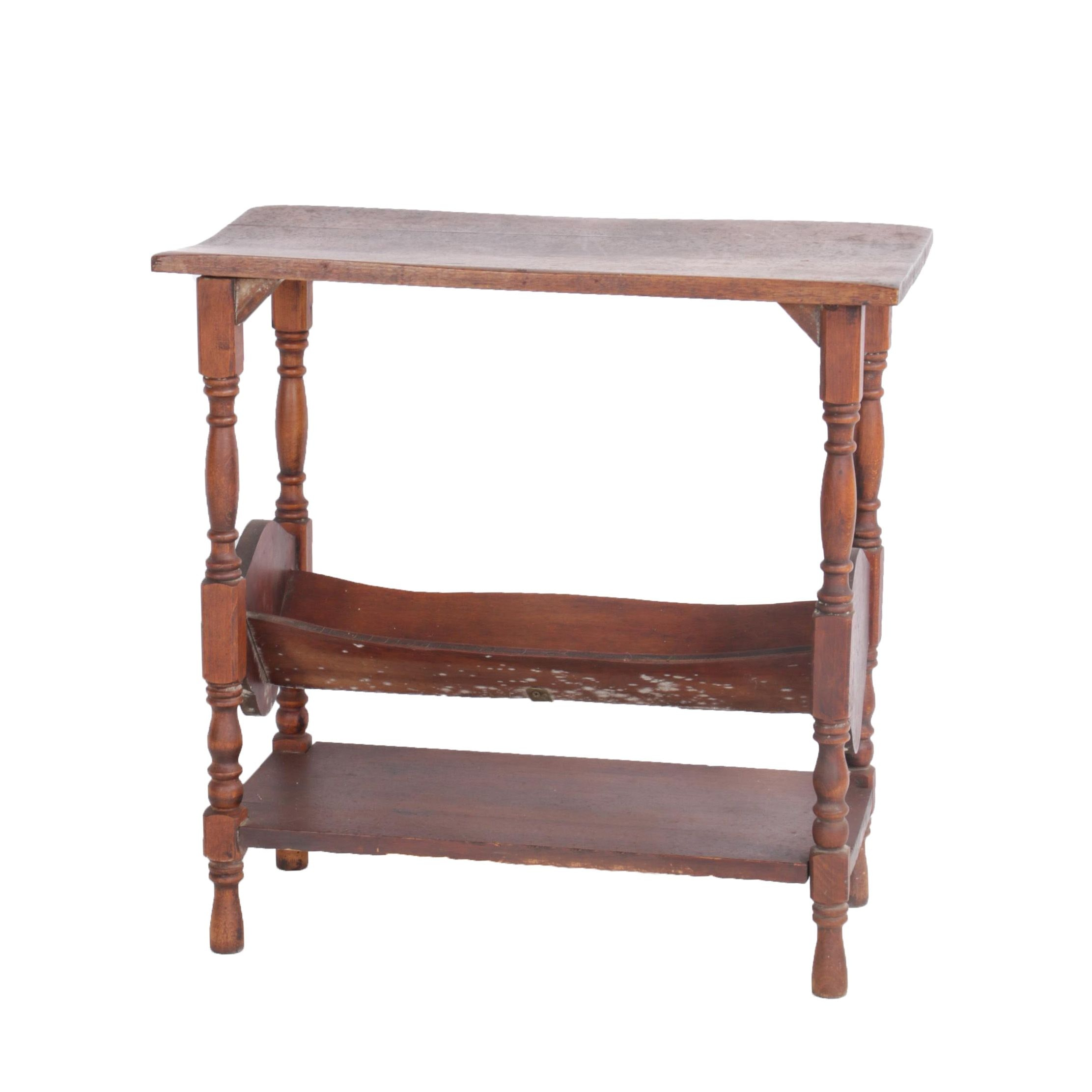 Vintage Book Stand Table