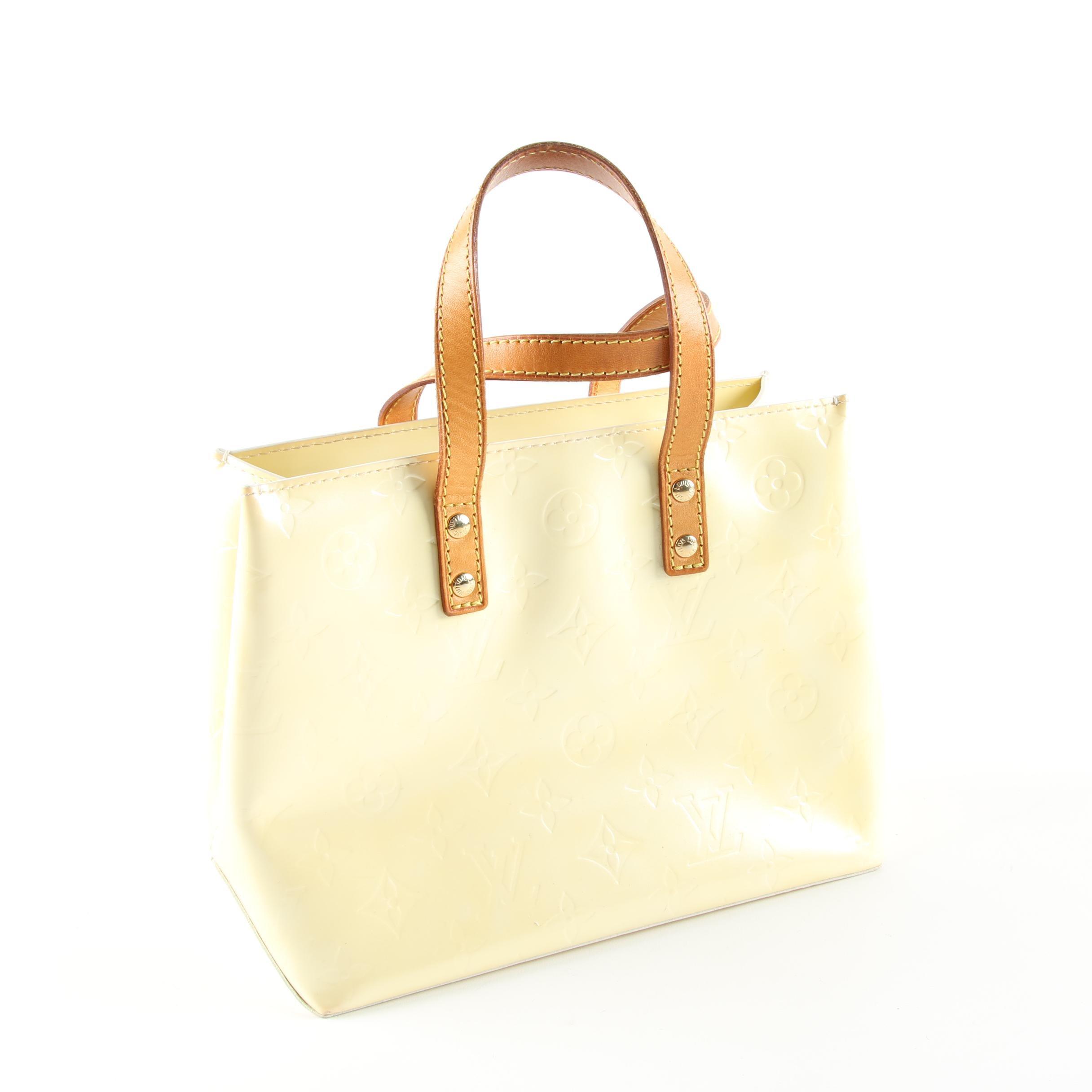 Louis Vuitton Citrine Monogram Vernis Reade PM Bag