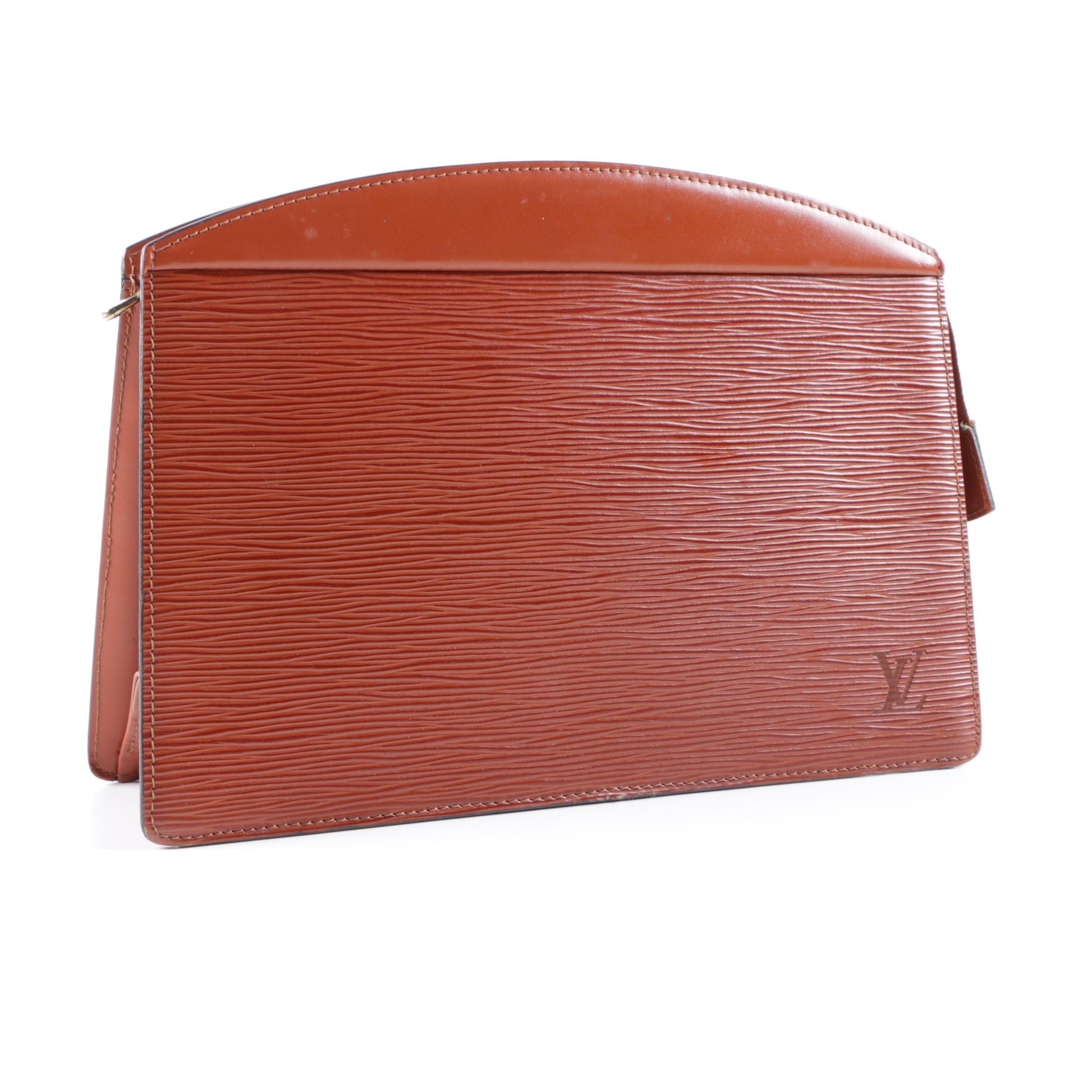 Vintage Louis Vuitton Cipango Gold Epi Leather Accessory Pouch