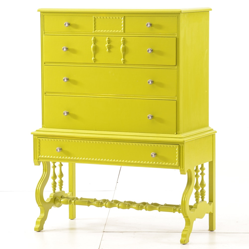 Painted 1920s Chest of Drawers