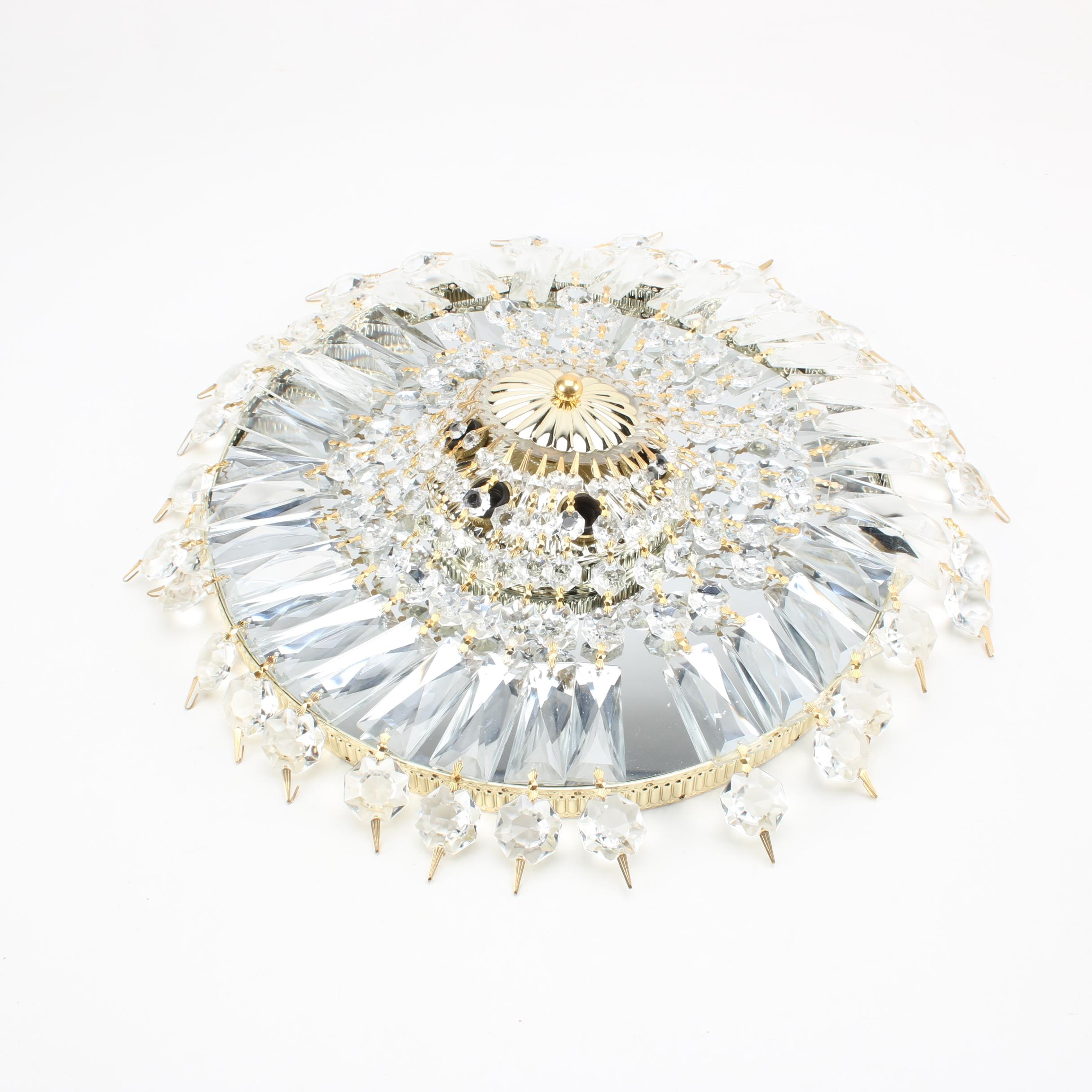 Glass Prism Chandelier Fixture