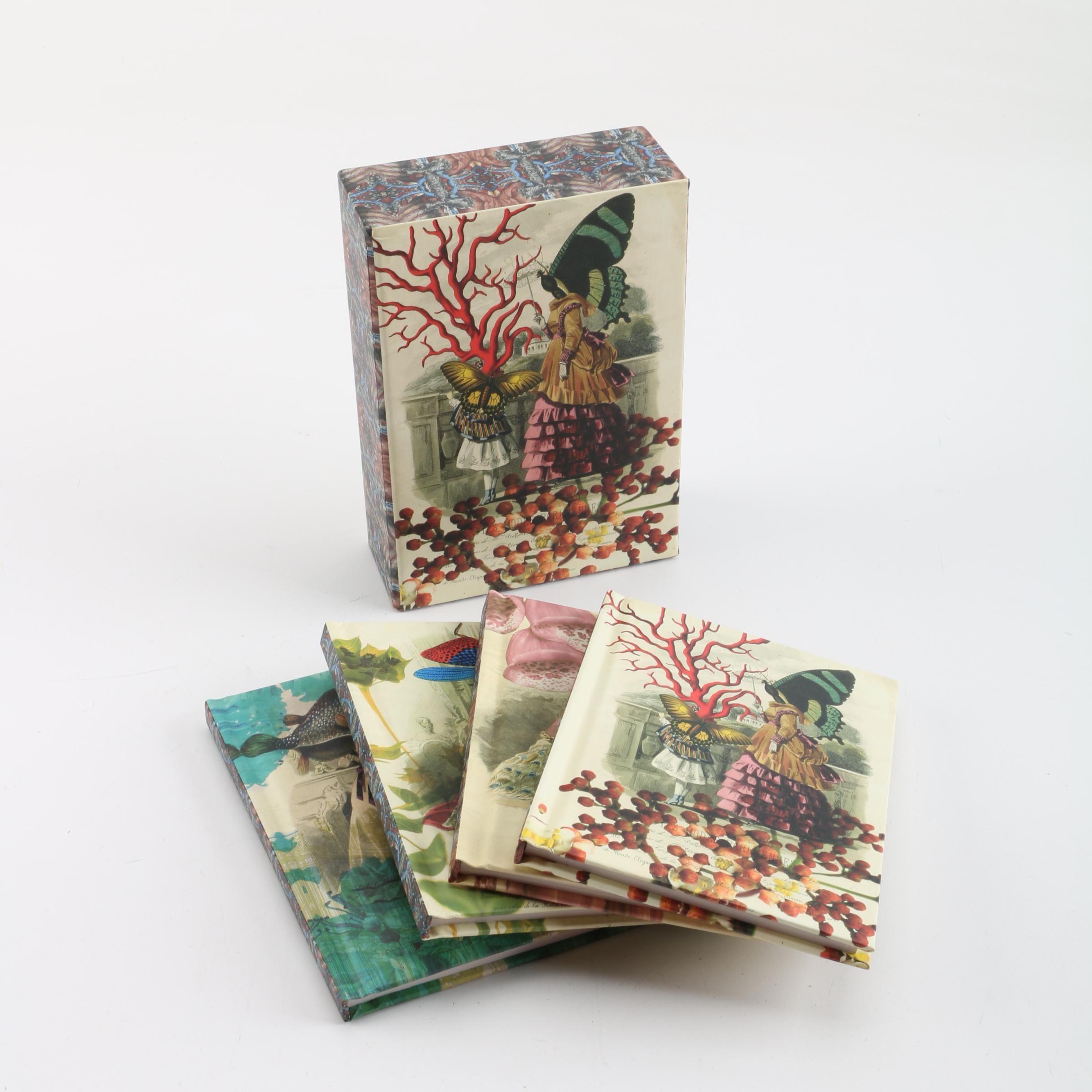 """Christian Lacroix """"Les Modes Parisiennes"""" Notepads with Storage Box"""