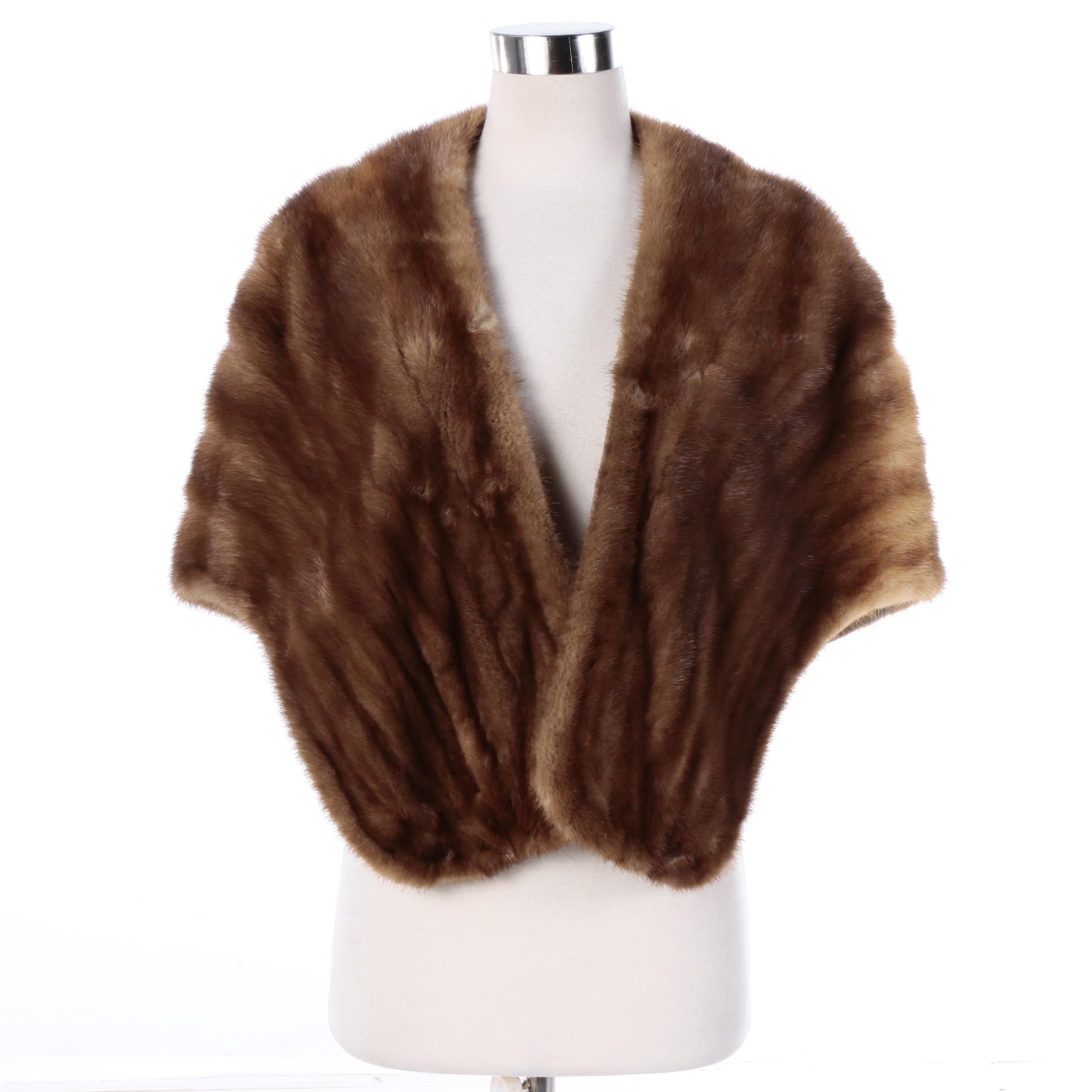Women's Mink Fur Stole