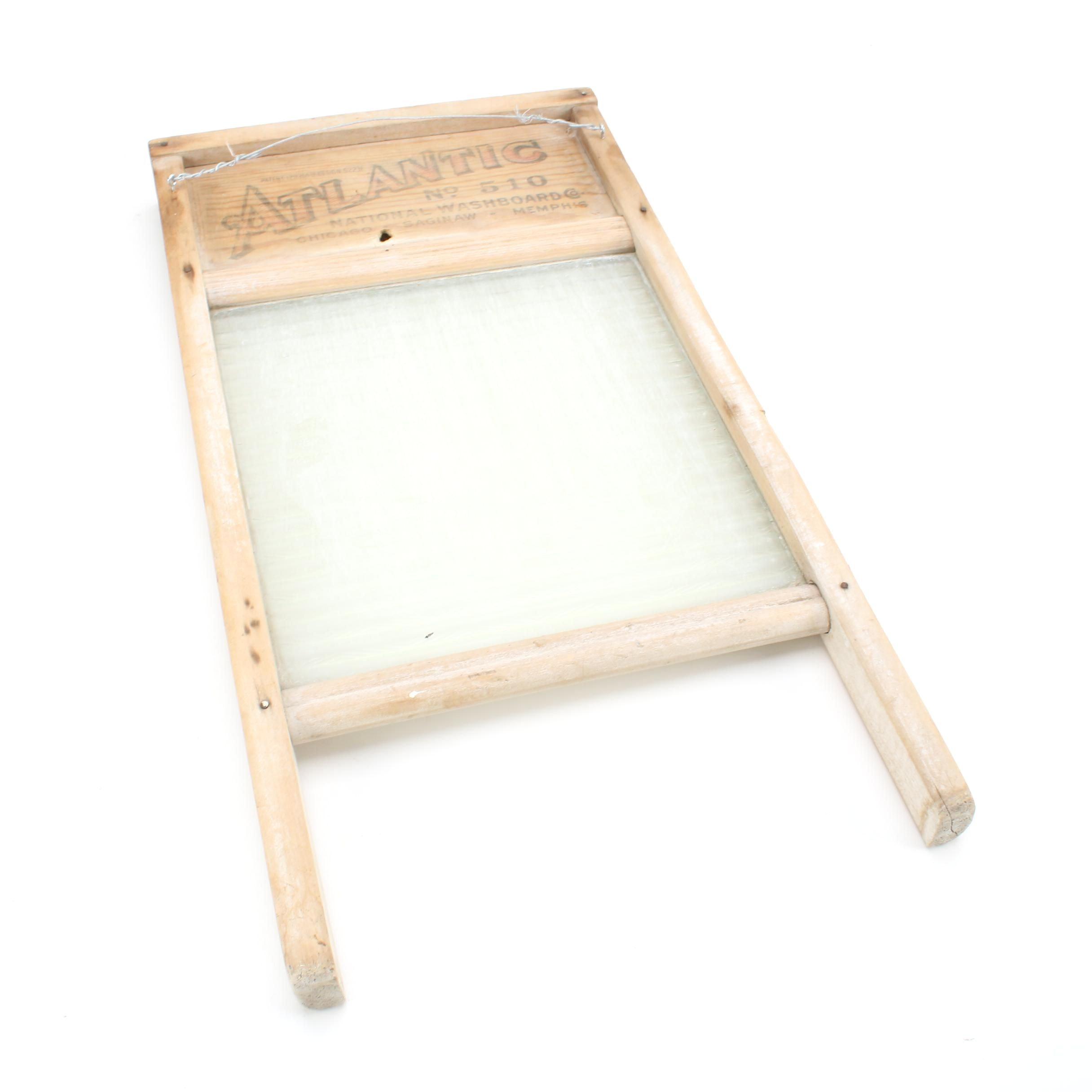 Atlantic Metal and Wood Washboard