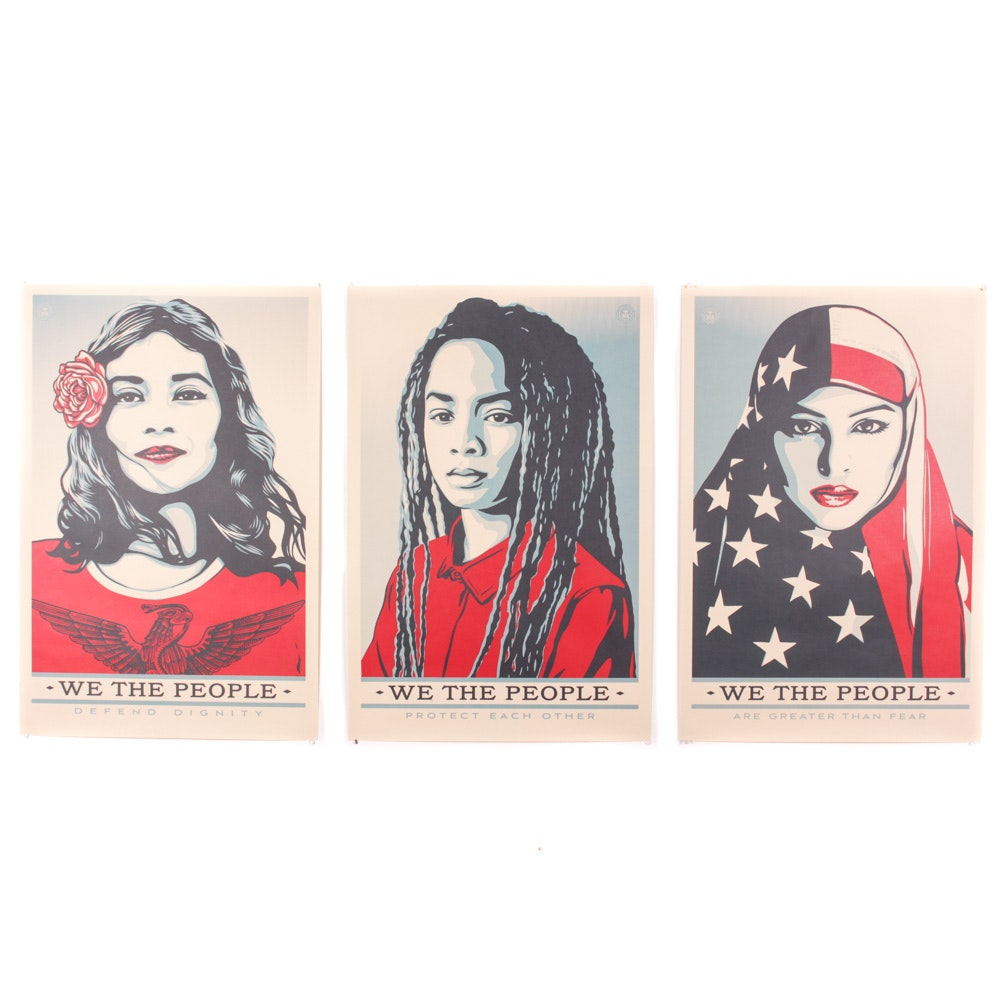 "Shepard Fairey Offset Prints ""We the People"""