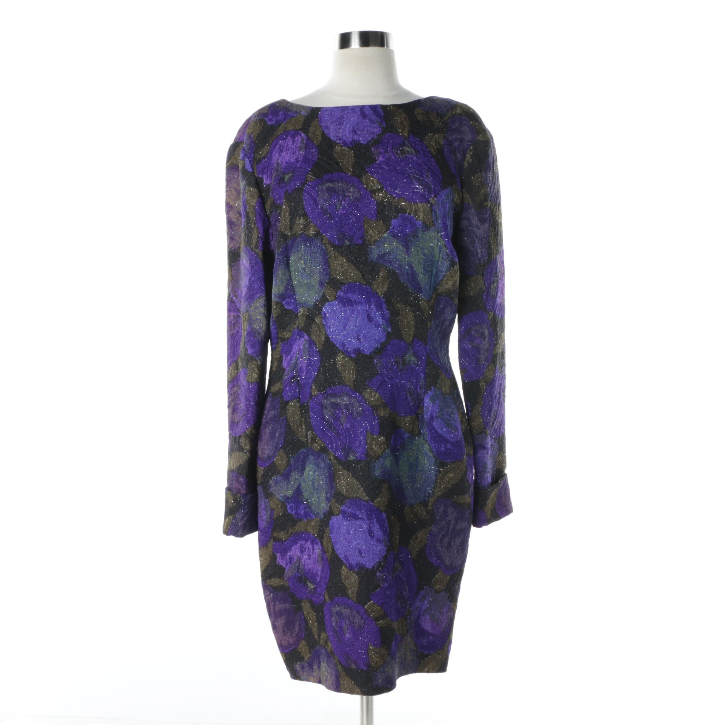 Eva Pazola of Chicago Floral Silk Dress