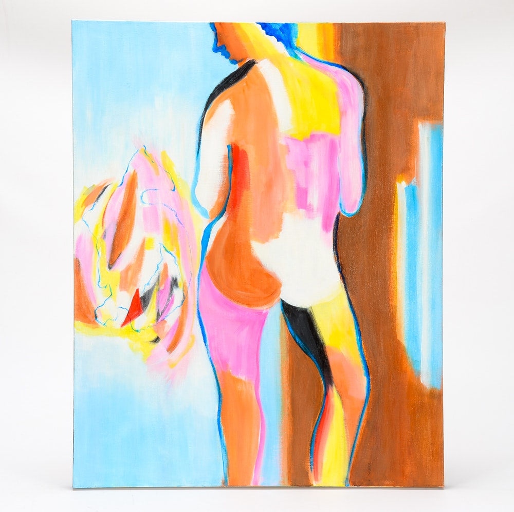 Elizabeth O'Neill Abstract Acrylic Painting of a Figure