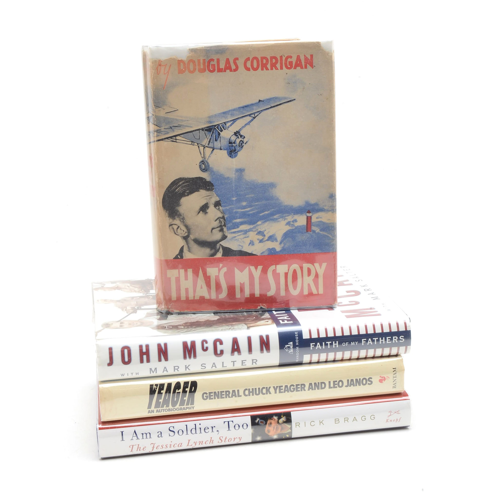 Signed Military Memoirs including John McCain and Chuck Yeager