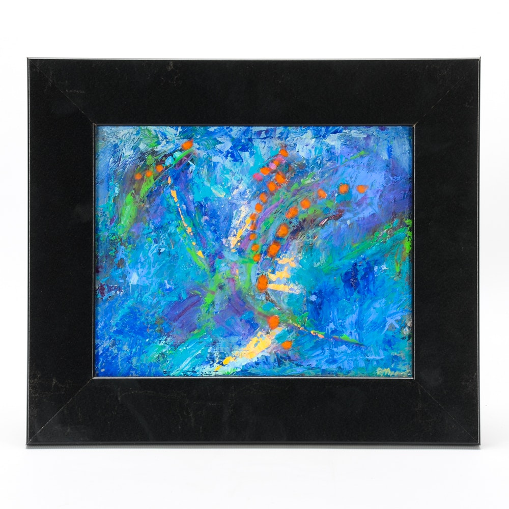 """Rebecca Manns Oil Painting on Board """"Spiral Meditation"""""""