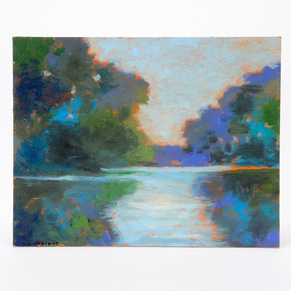 Sulmaz H. Radvand Oil Painting of a Landscape