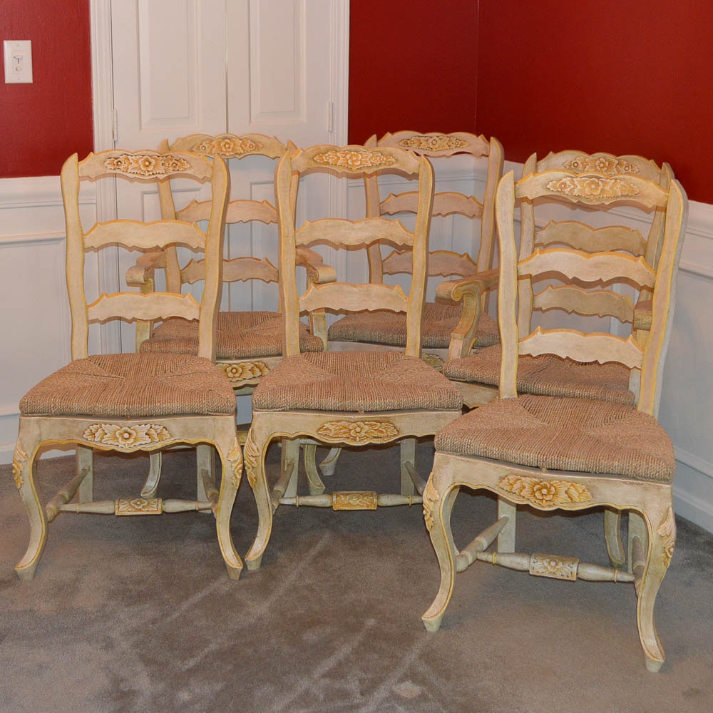 Six French Provincial Dining Chairs