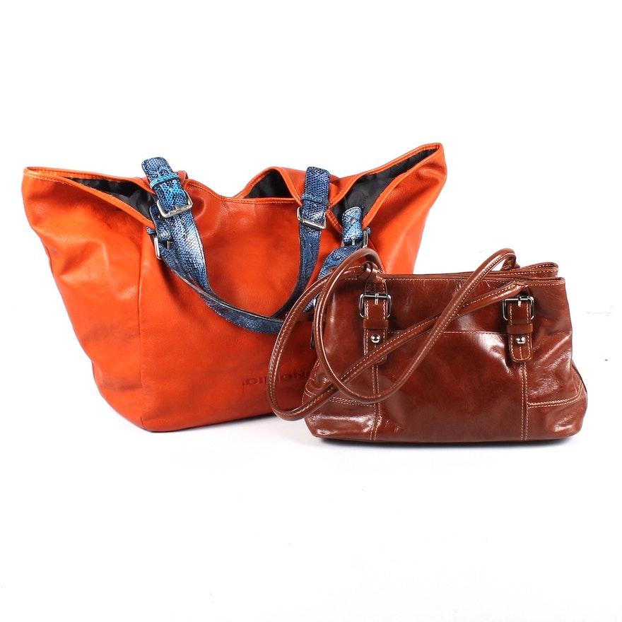 Giani Bernini And Dimoni Leather Handbags