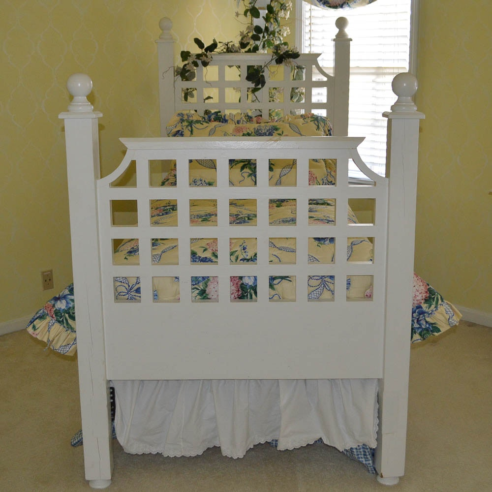 White Trellis Bed Frame