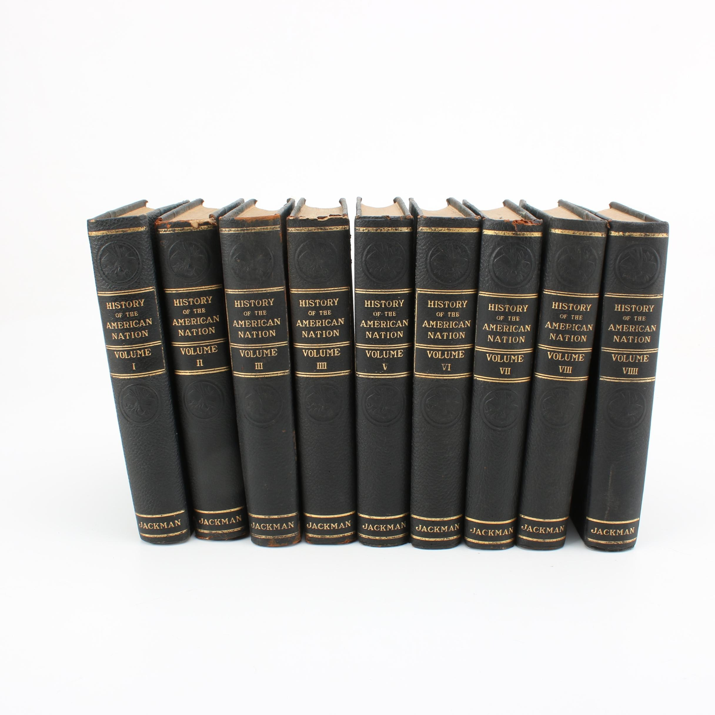"1916 ""History of the American Nation"" Edition De Luxe in Nine Volumes"