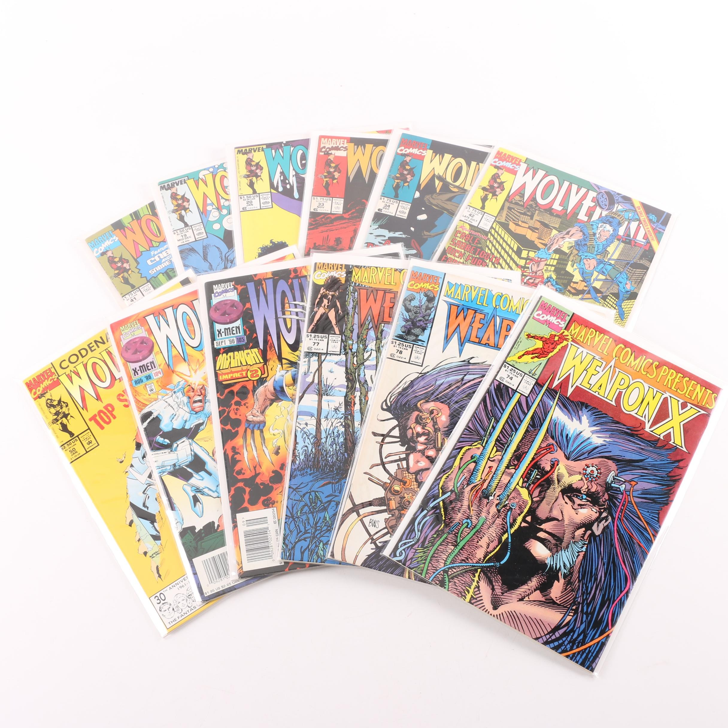 "Modern Age Marvel ""Wolverine"" Comic Books"