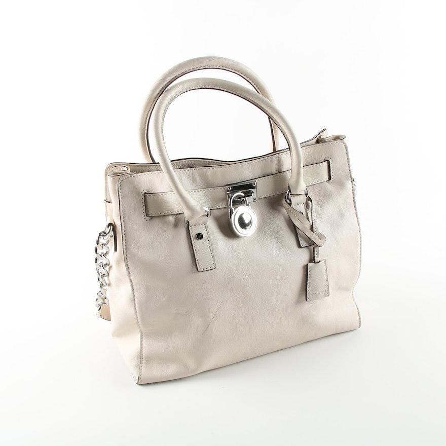 9042bd43d4ea MICHAEL Michael Kors Beige Leather Handbag : EBTH