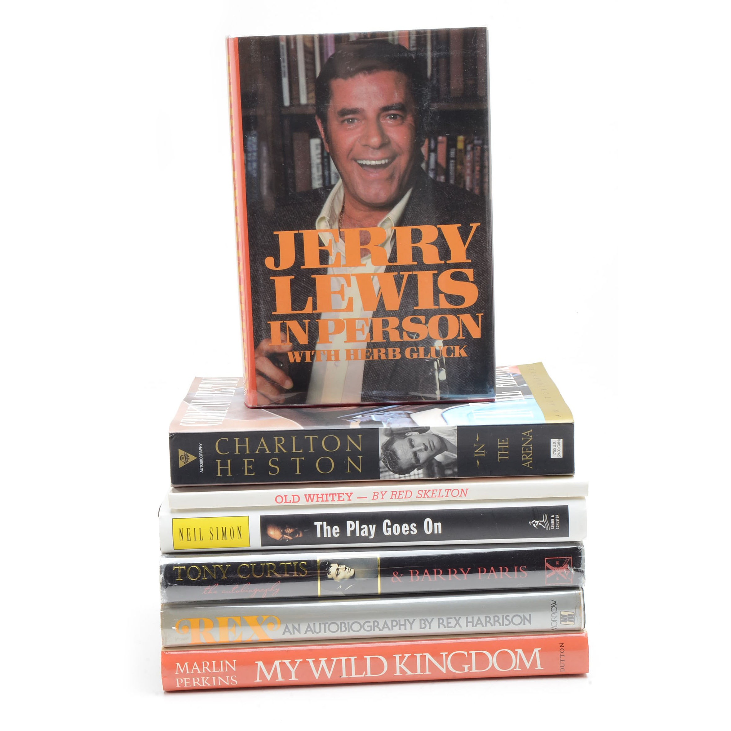 Collection of Signed Entertainer Autobiographies
