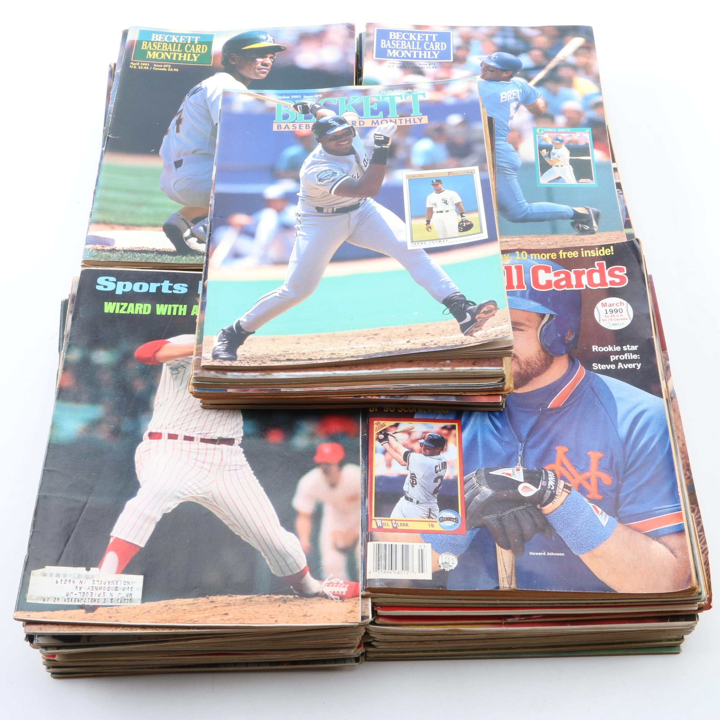 """1990s Sports Magazines Including """"Beckett Baseball Card Monthly"""""""