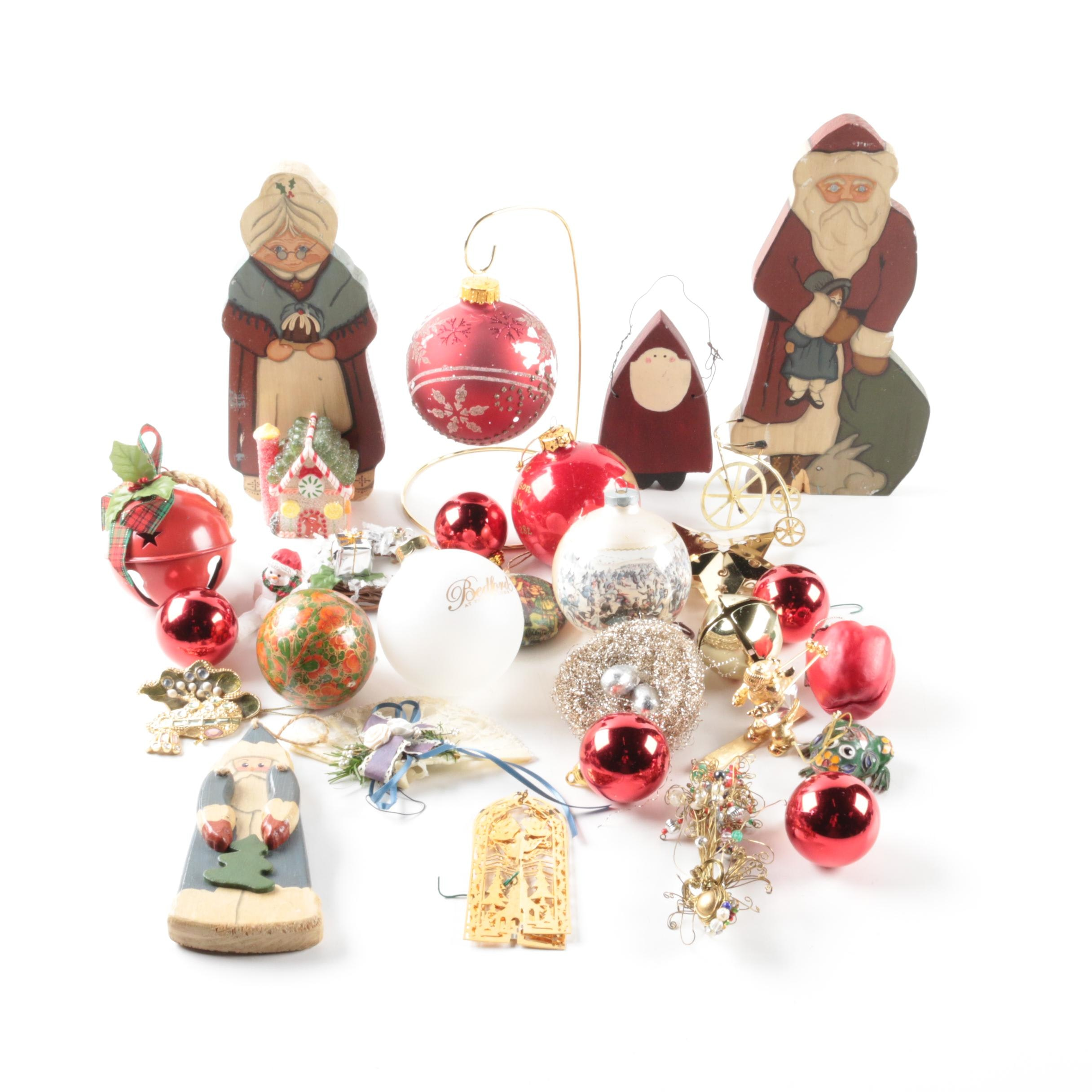Collection of Christmas Ornaments and Accessories