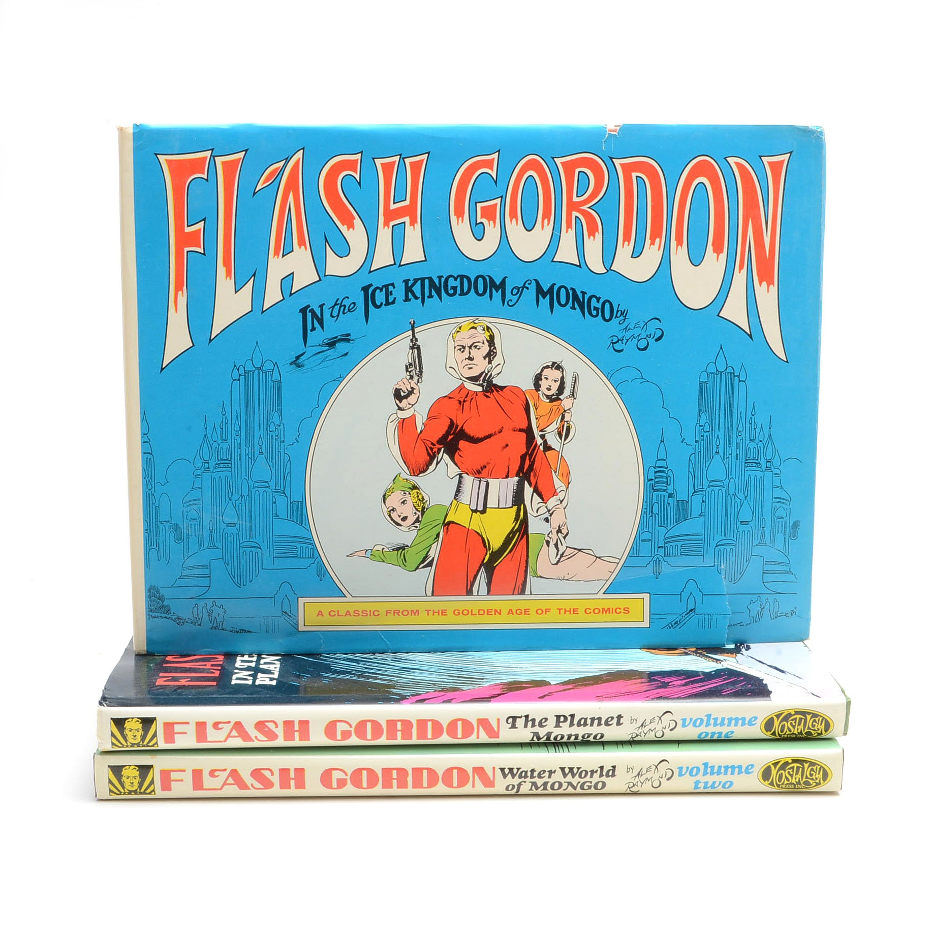 Three Hardcover Flash Gordon Comics Collections