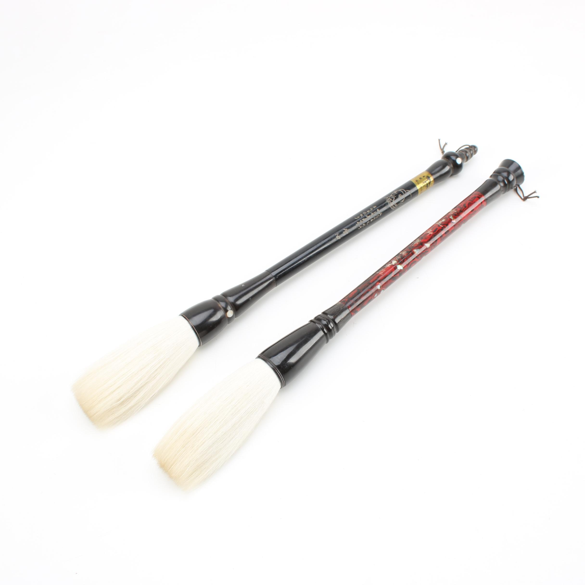 Mother of Pearl and Abalone Art Brushes