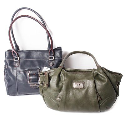 Two Isaac Mizrahi Leather Shoulder Bags 2789c7540411d