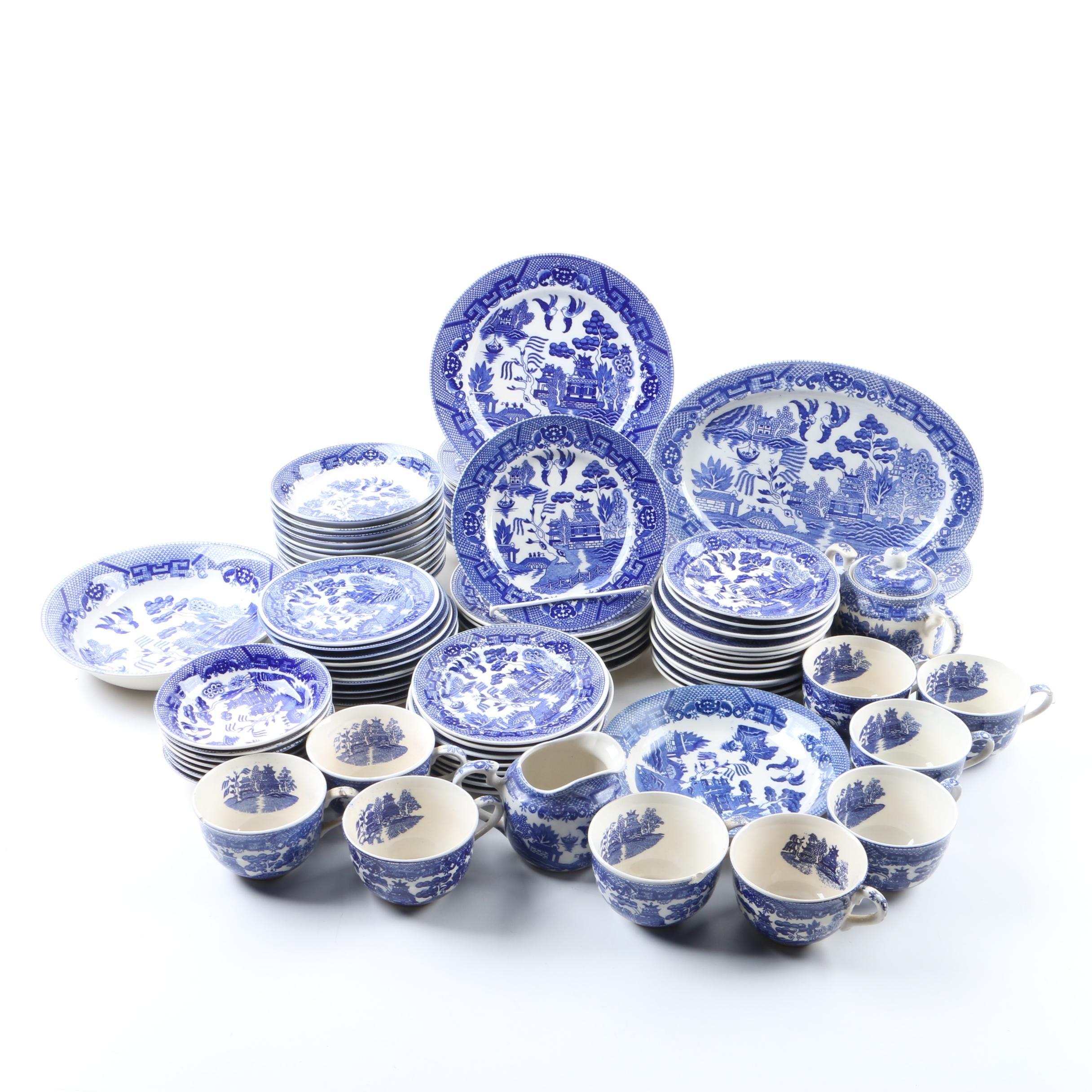 Blue Willow Ceramic Tableware