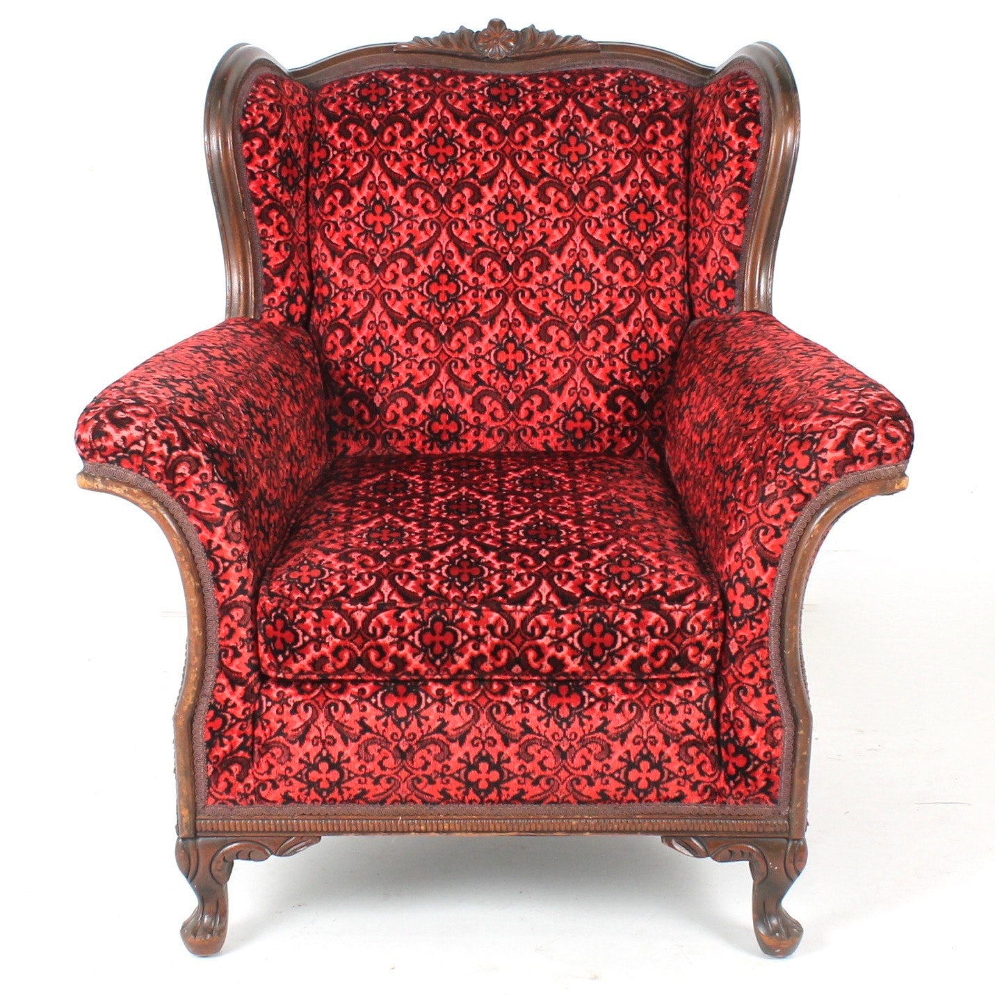 Louis XV Style Wingback Armchair