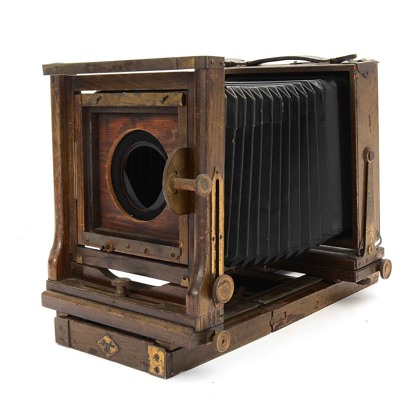 Vintage Agfa Ansco 5x7 View Camera Body with Accessories