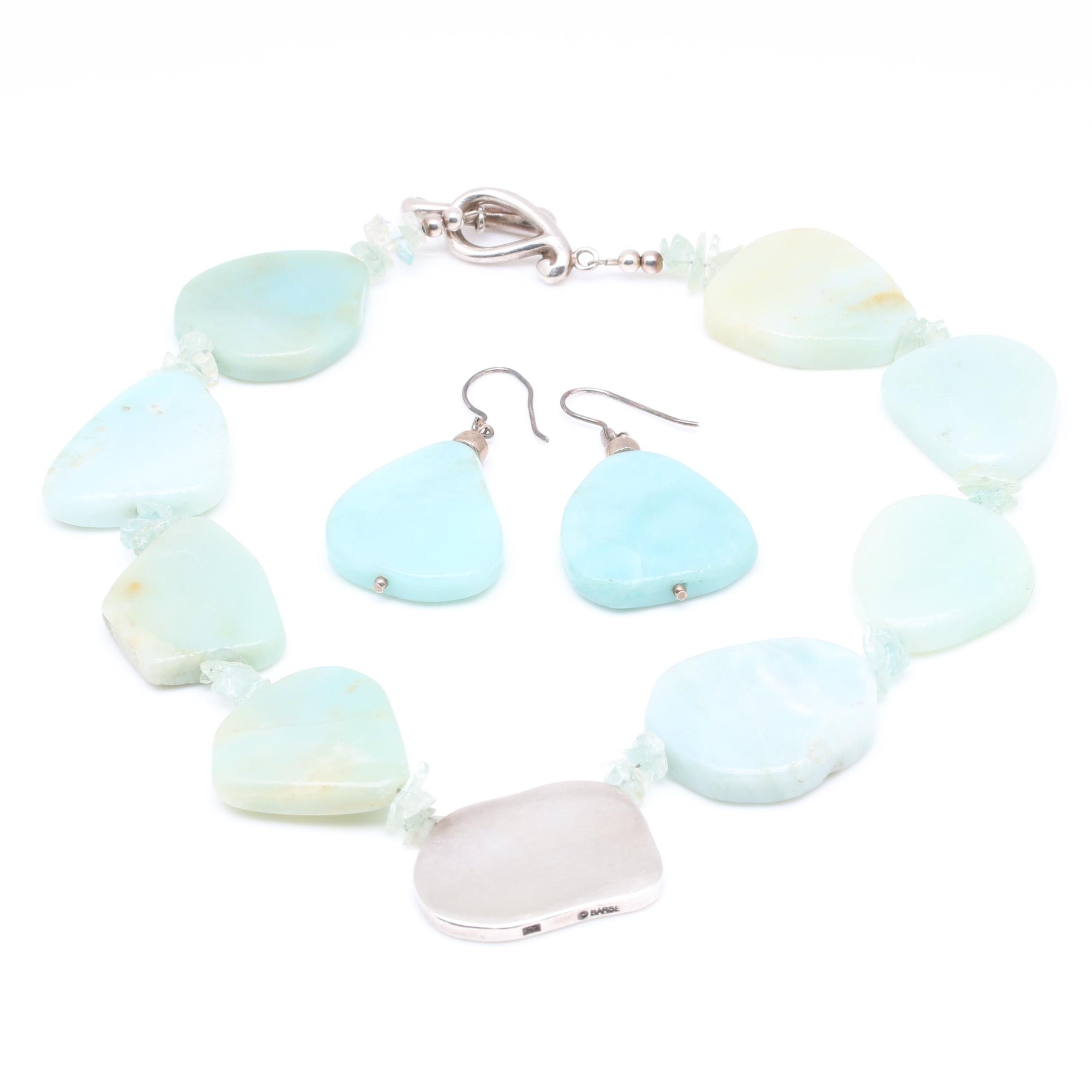 Barse Sterling Silver Aquamarine Necklace and Earring Selection