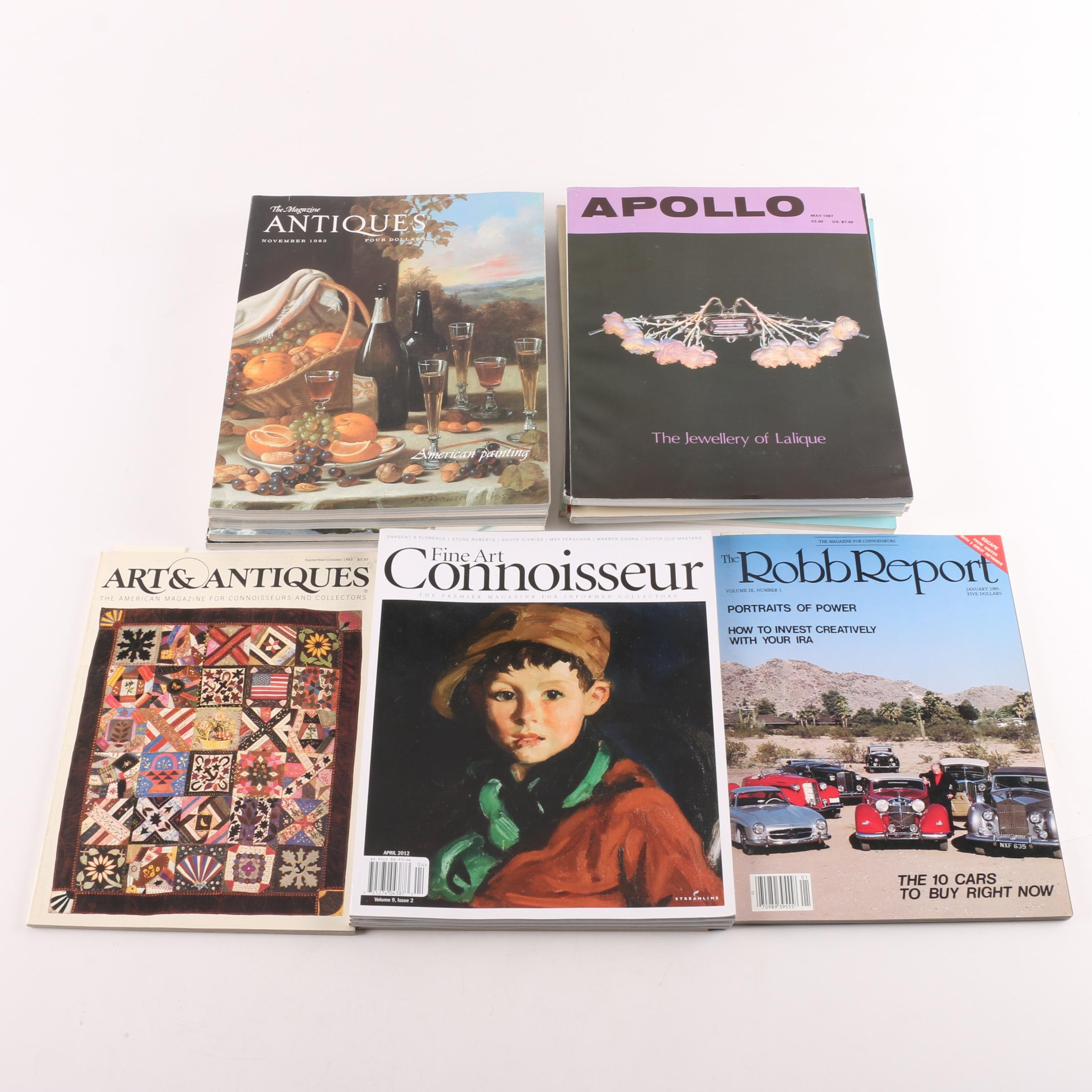 """1980s and Contemporary Magazines Including """"Apollo"""" and """"Fine Art Connoisseur"""""""