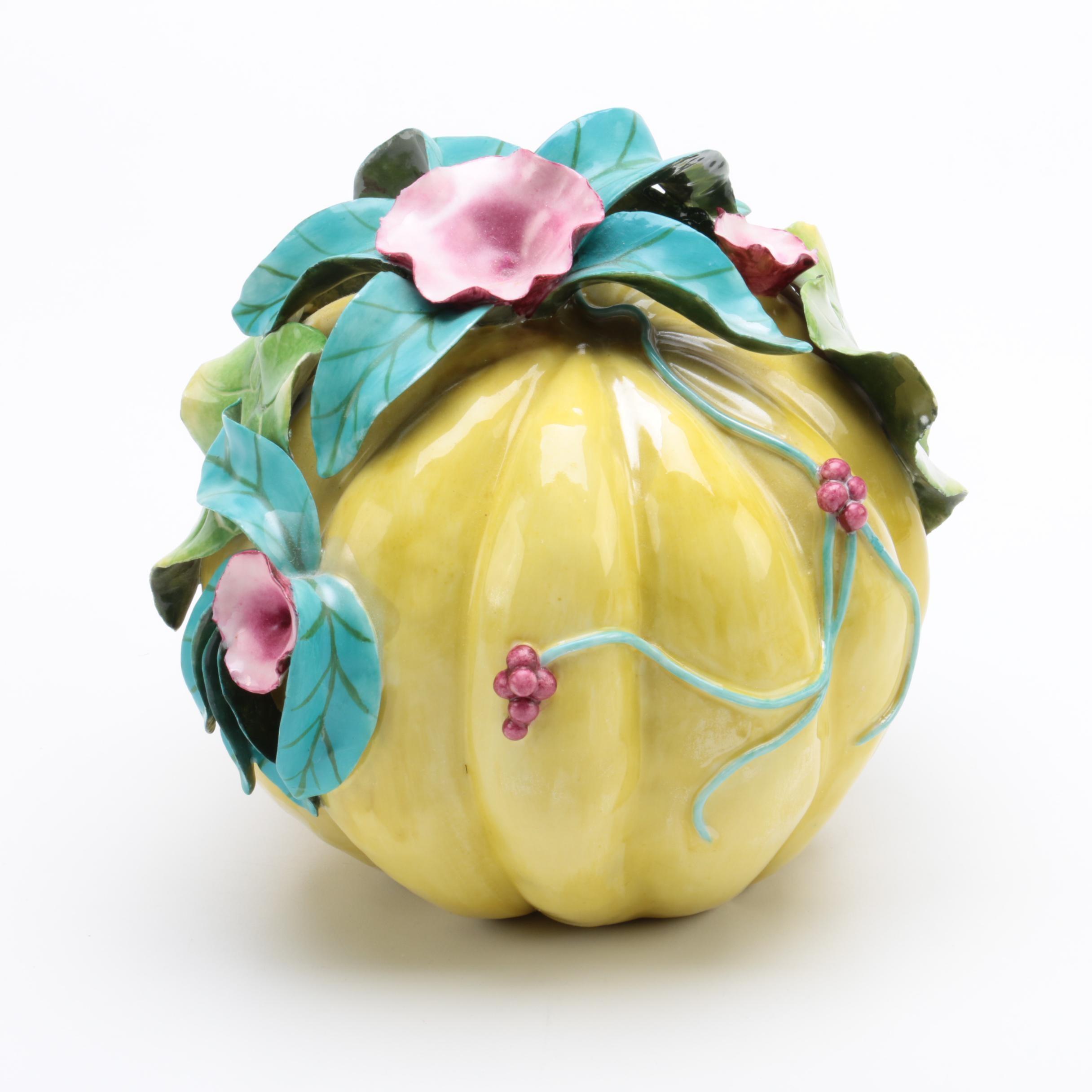 Katherine Houston Hand Sculpted Porcelain Melon Centerpiece