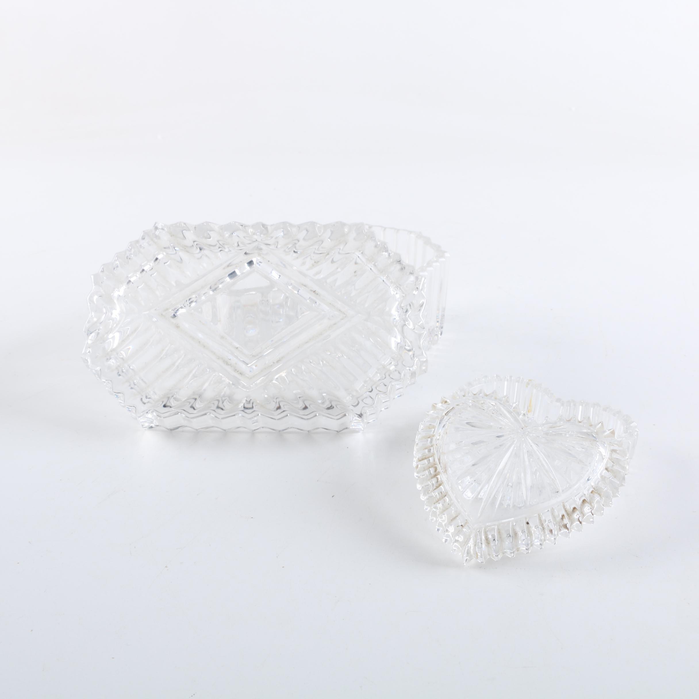 Pressed Glass Trinket Boxes