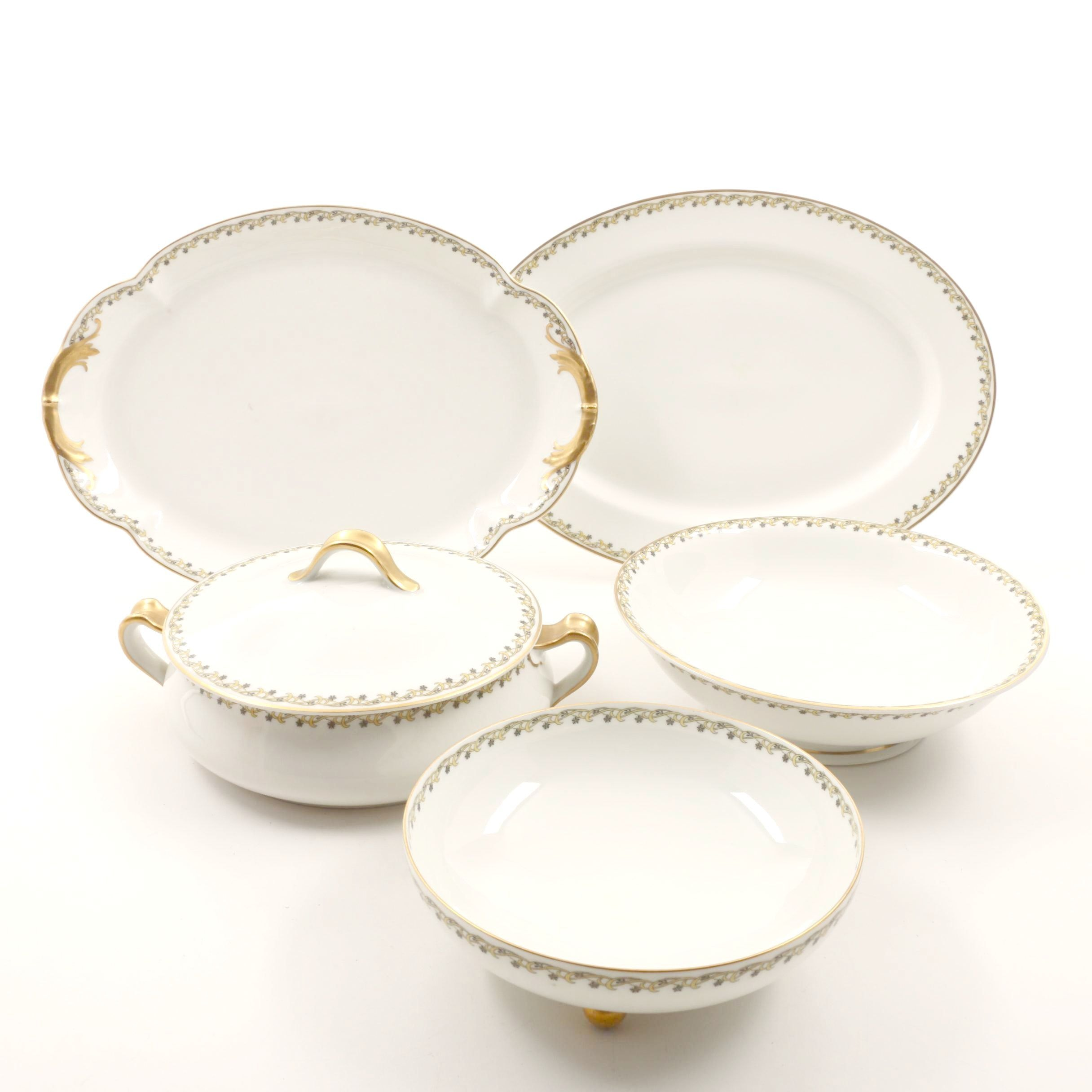 Early 20th Century Haviland & Co. Limoges Porcelain Serving Pieces