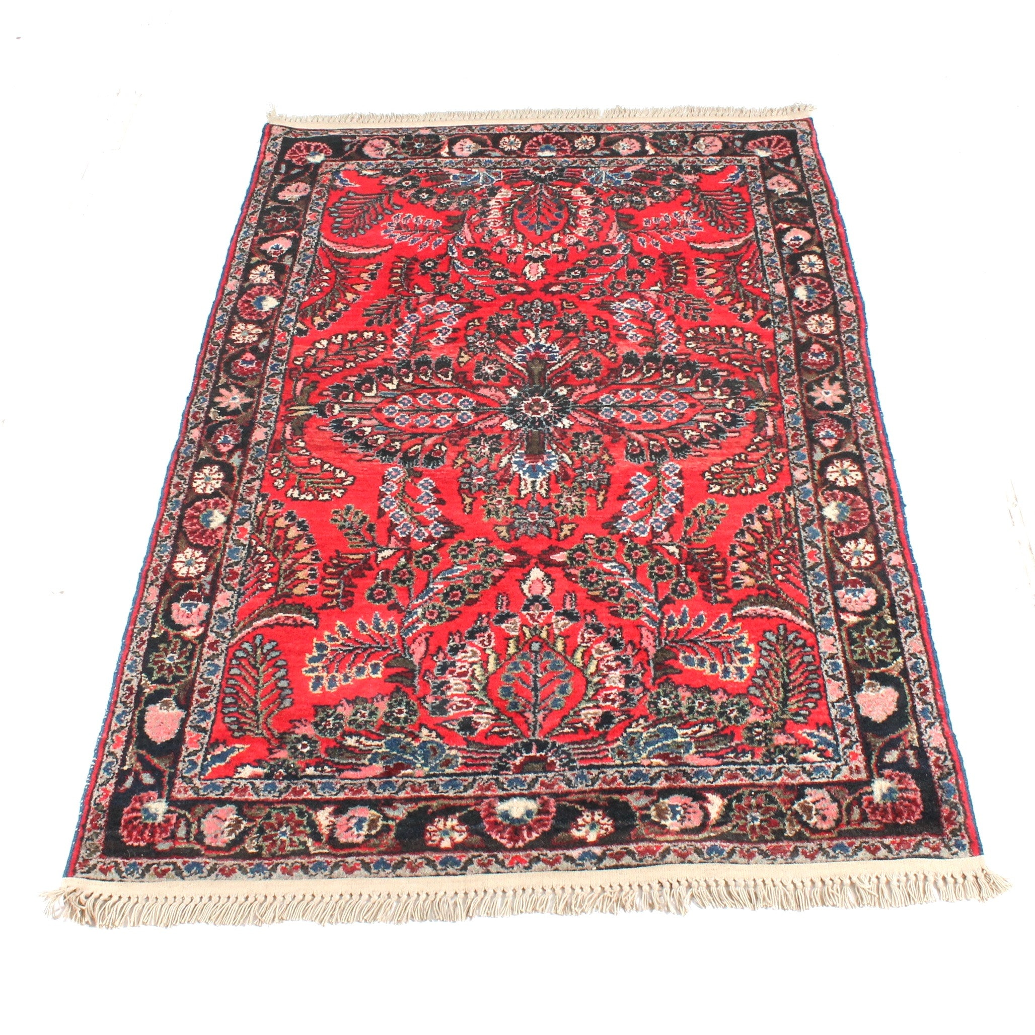 Antique Hand-Knotted Persian Daragazine Rug