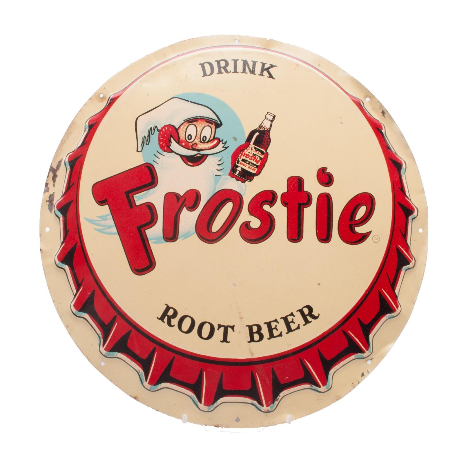 "Vintage ""Frostie Root Beer"" Metal Sign"