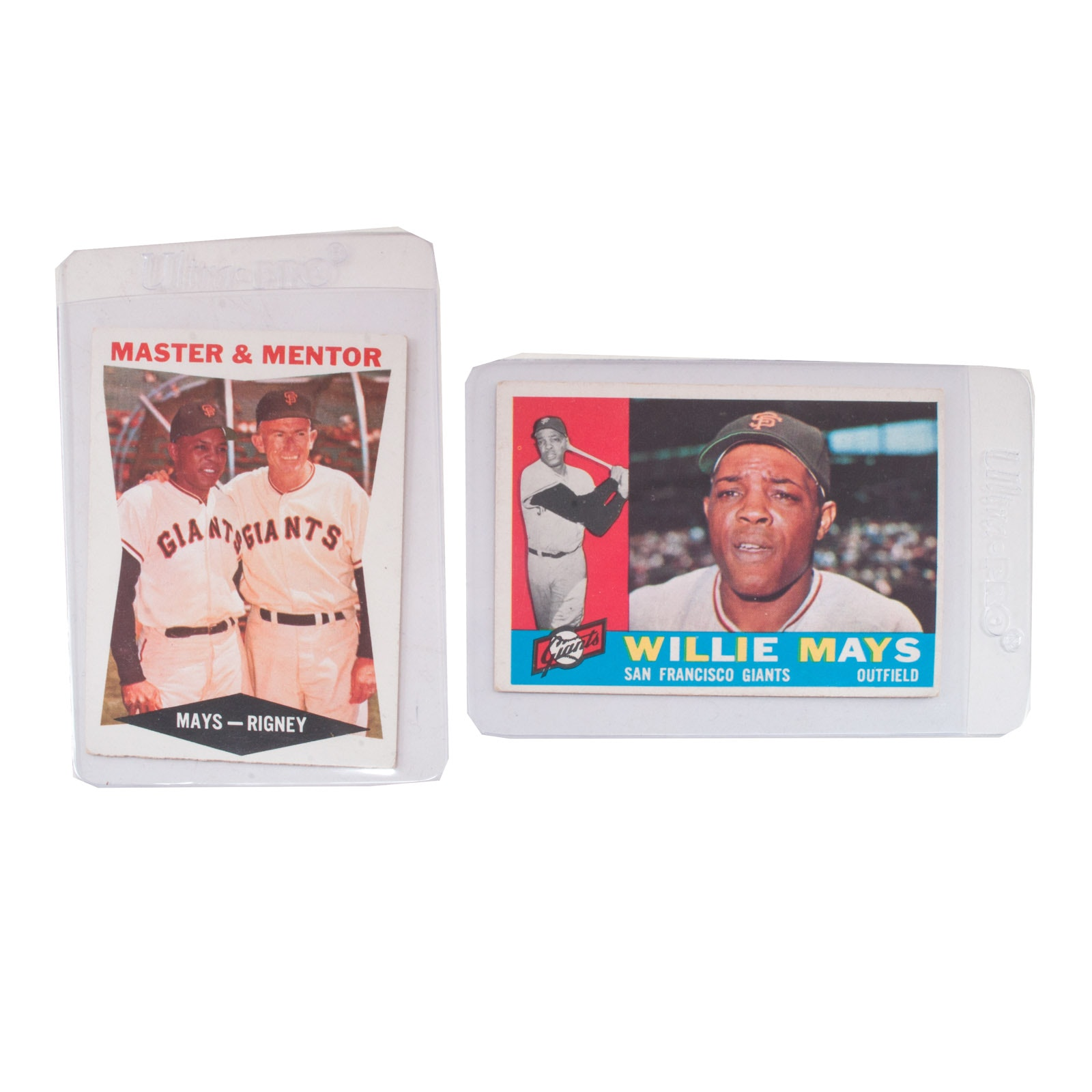 1960 Willie Mays Topps Baseball Cards