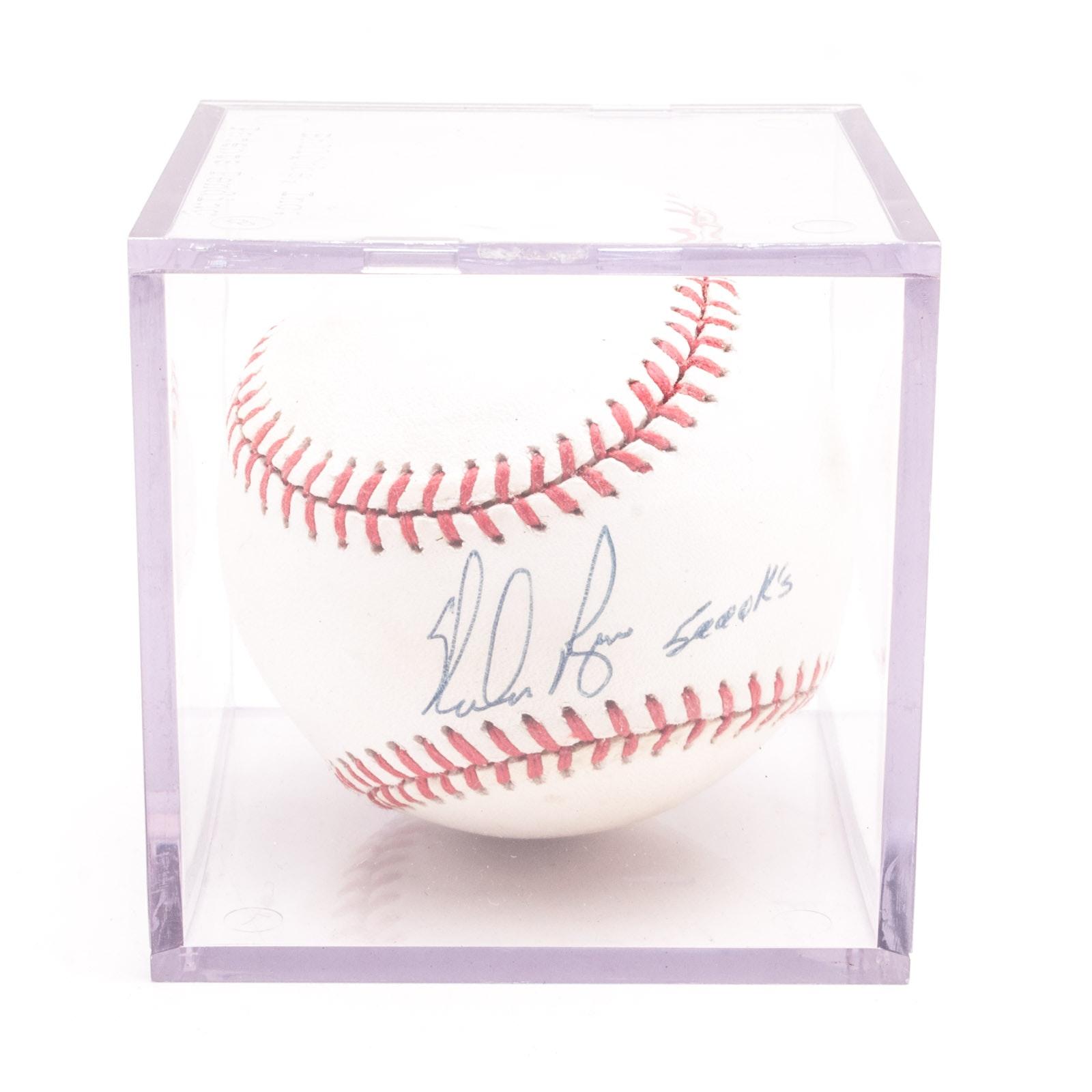 Nolan Ryan Signed and Inscribed Baseball  Visual COA