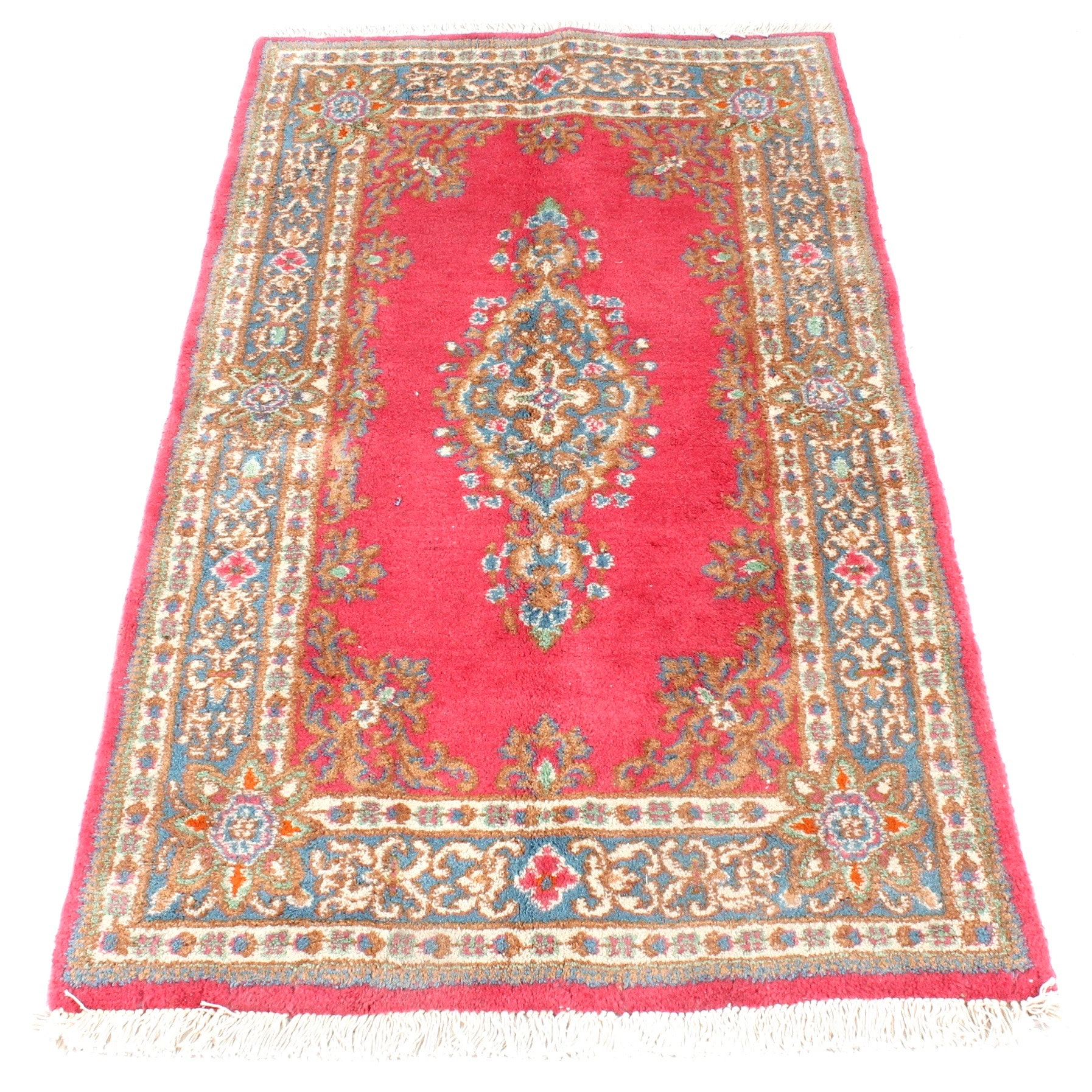 Fine Hand-Knotted Persian Kerman Rug