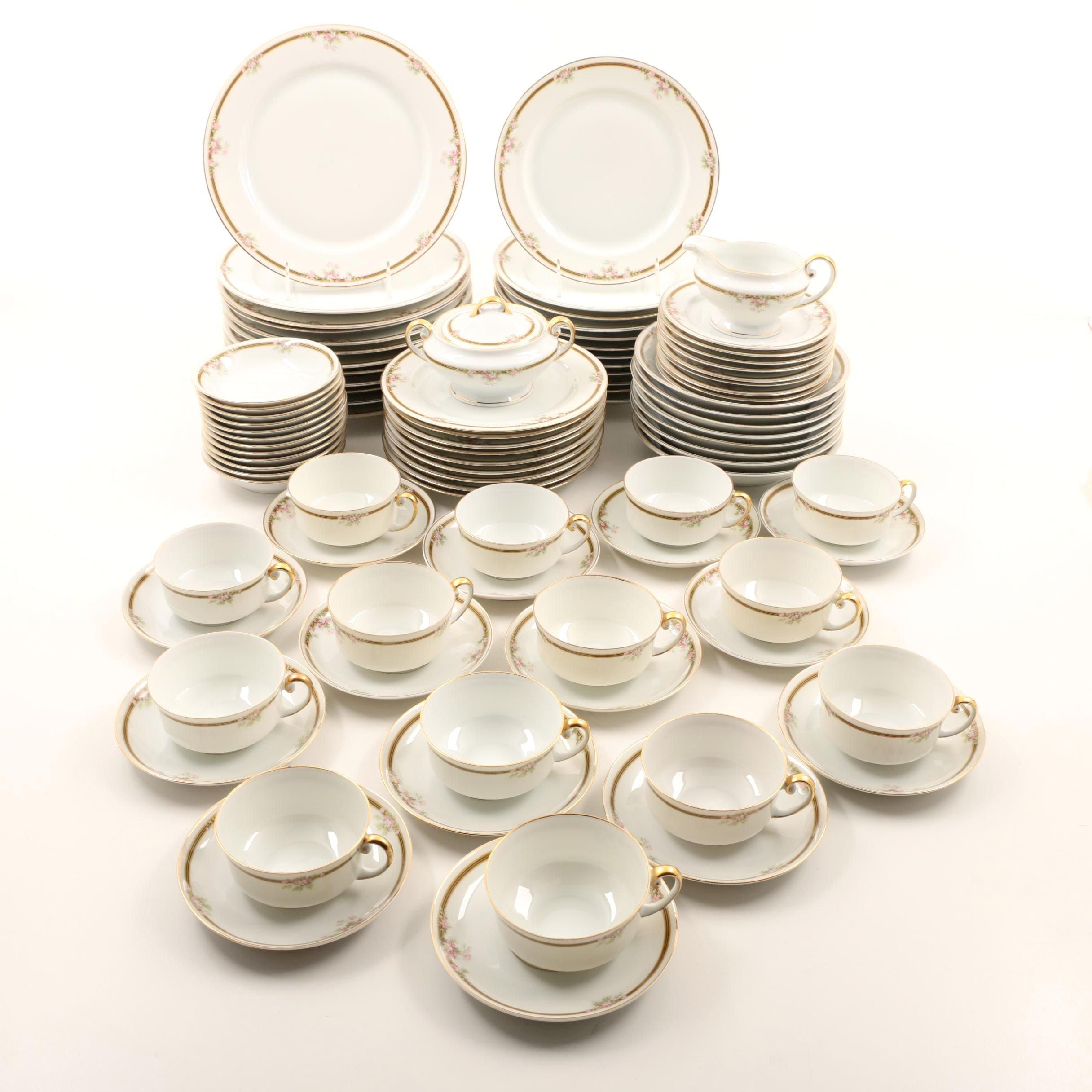 Vintage Tirschenreuth, Bavaria Porcelain Dinnerware Service