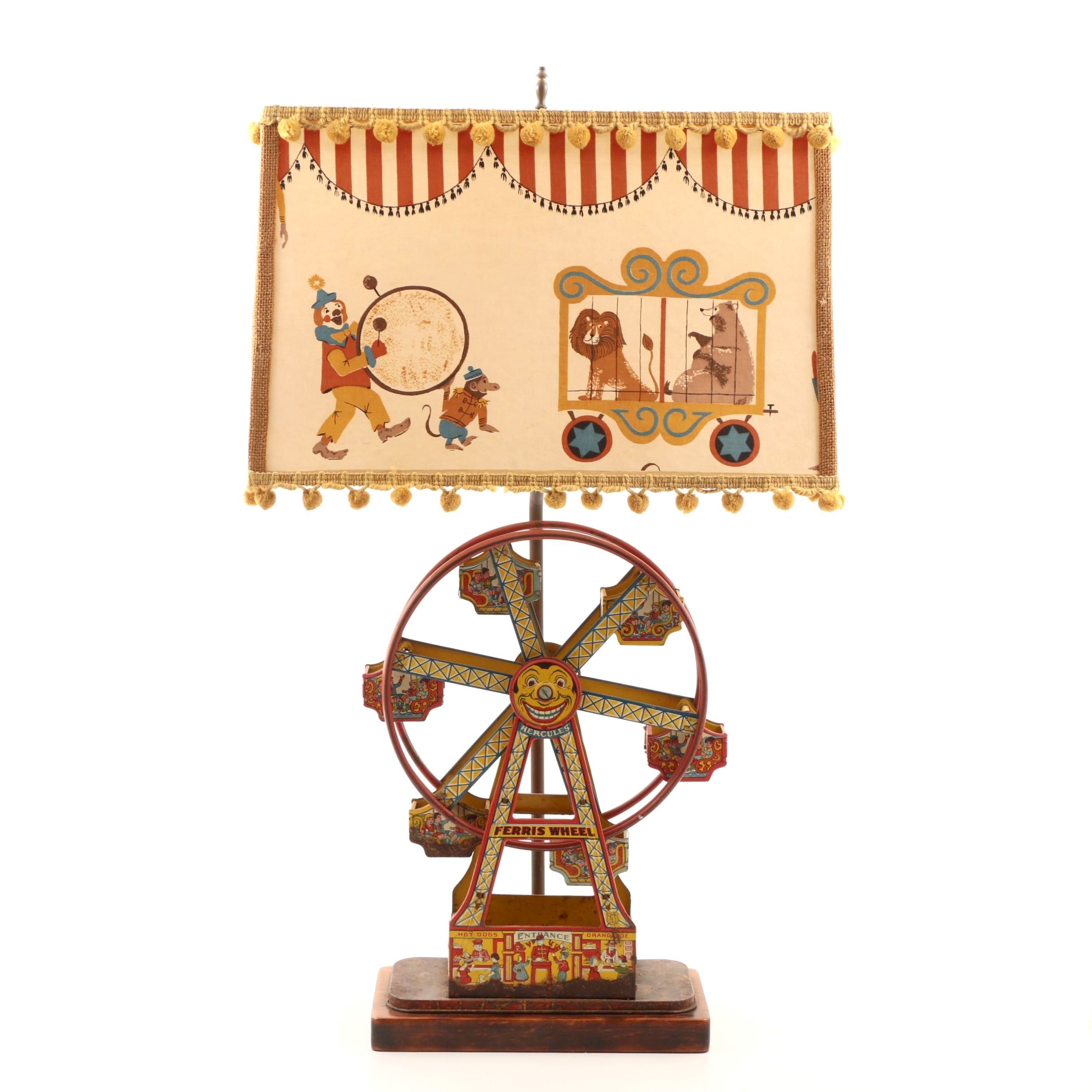 Early 20th Century J. Chein Ferris Wheel Toy Lamp