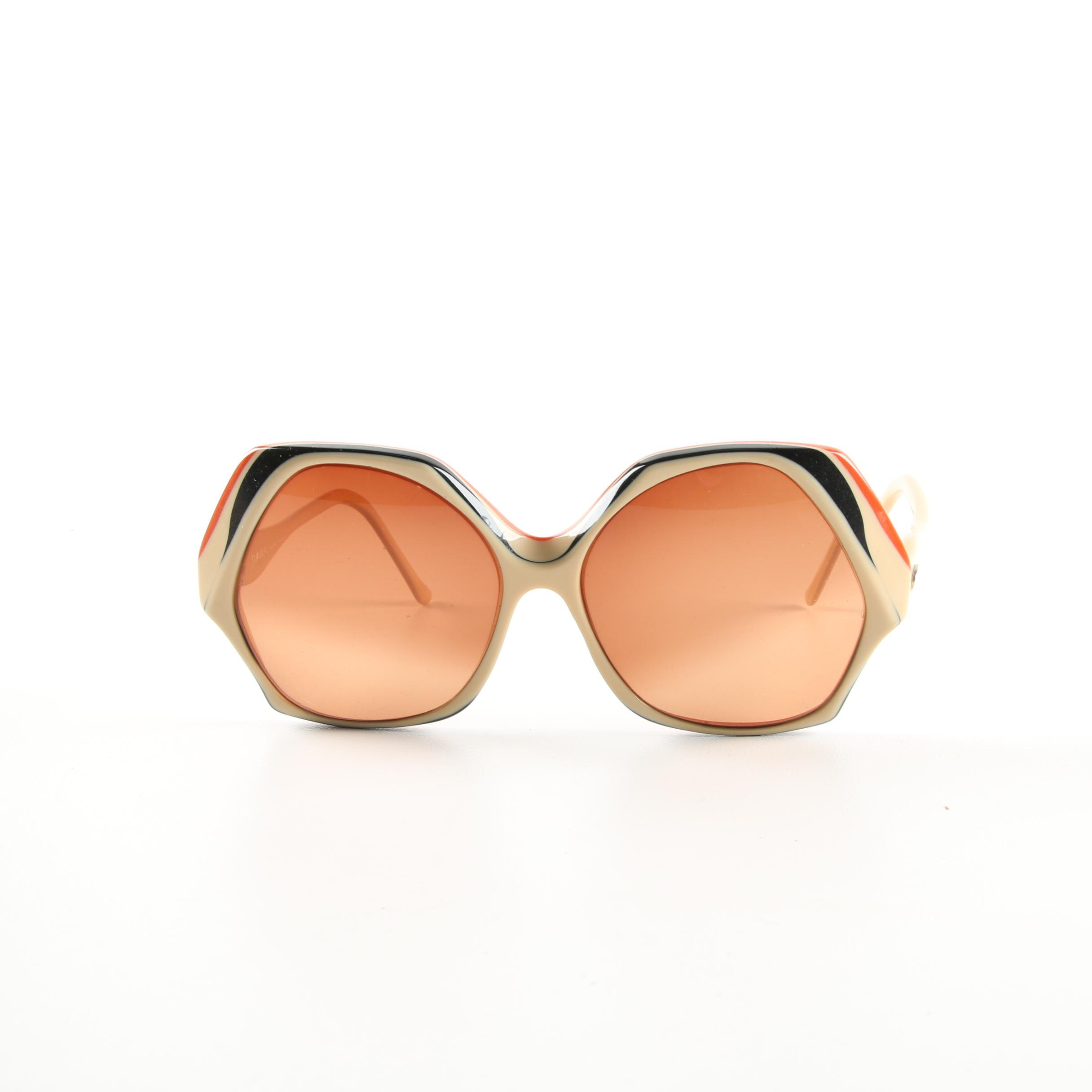 Vintage Diane von Furstenberg Oversized Dawn Prescription Sunglasses